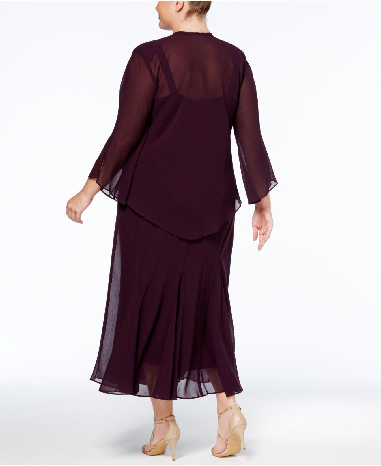 a62e991be6 R   M Richards Plus Size Dress And Jacket