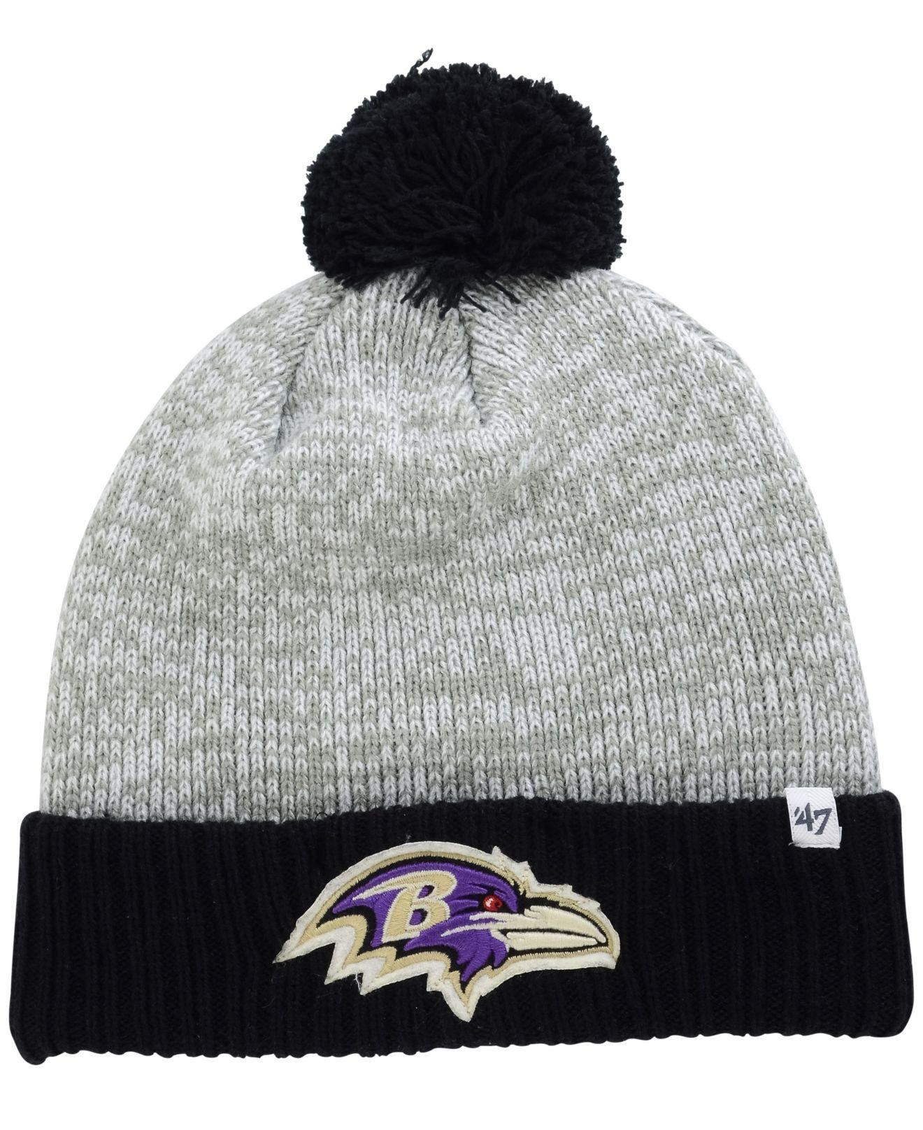 Lyst - 47 Brand Baltimore Ravens Coverage Knit Hat in Black d96a500f7