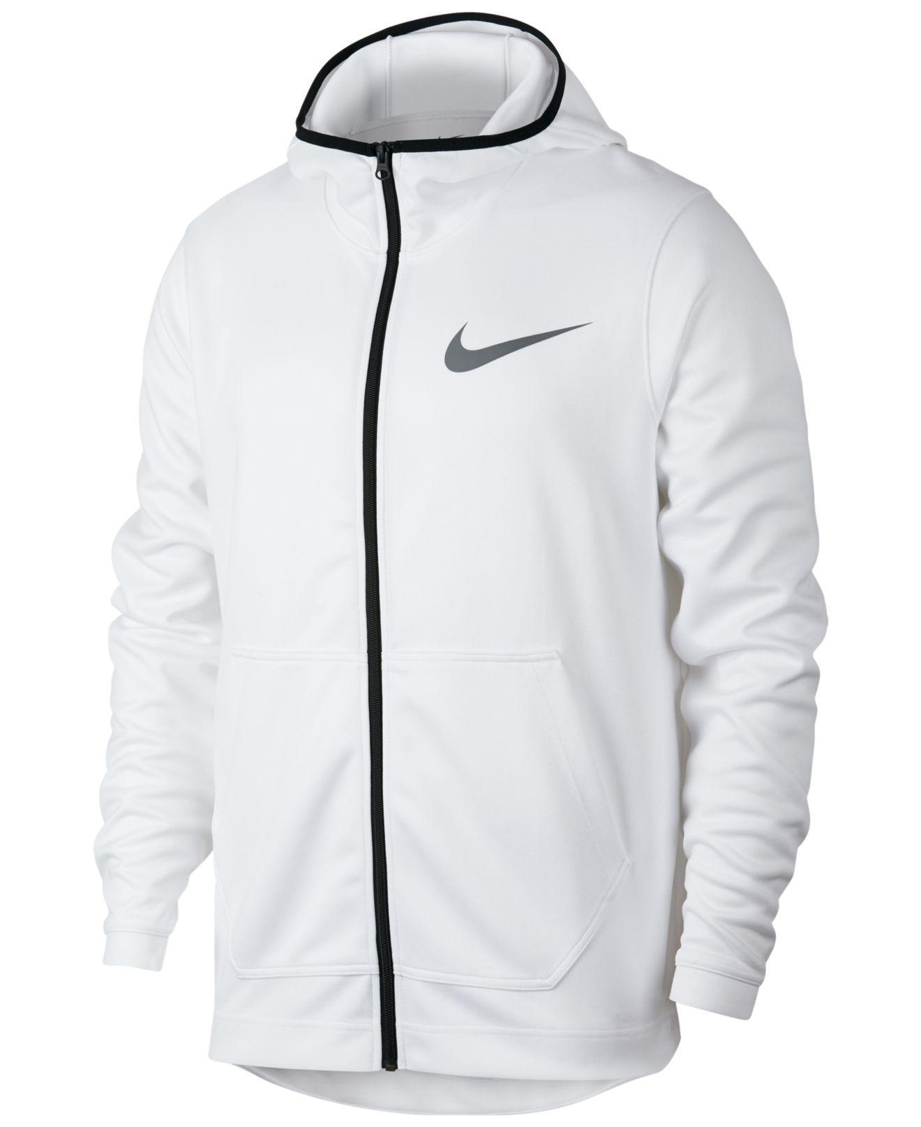 494a1e93 ... Nike - White Spotlight Dri-fit Zip Hoodie for Men - Lyst · Visit  Macy's. Tap to visit site