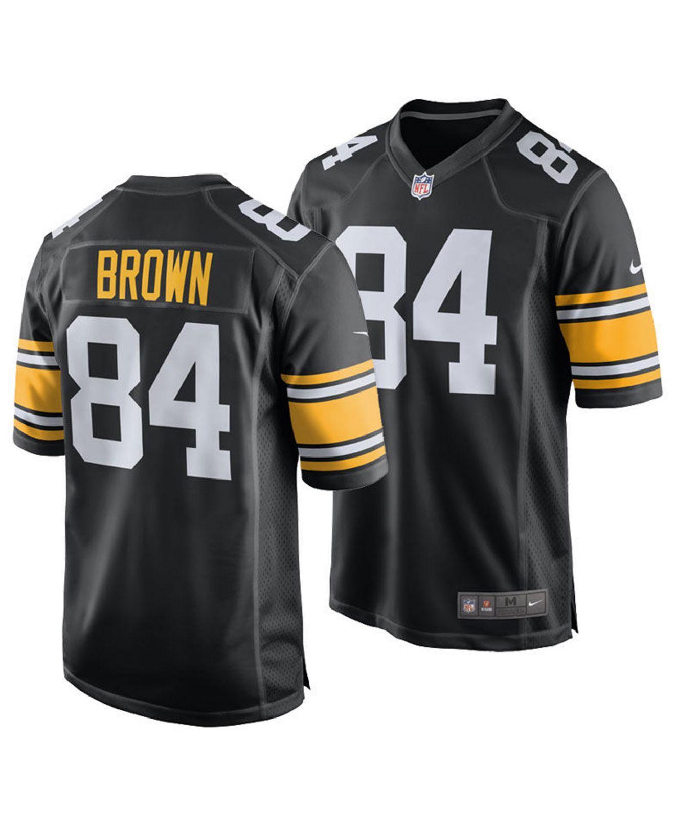 6e2b07c45a5 Lyst - Nike Antonio Brown Pittsburgh Steelers Game Jersey in Black ...