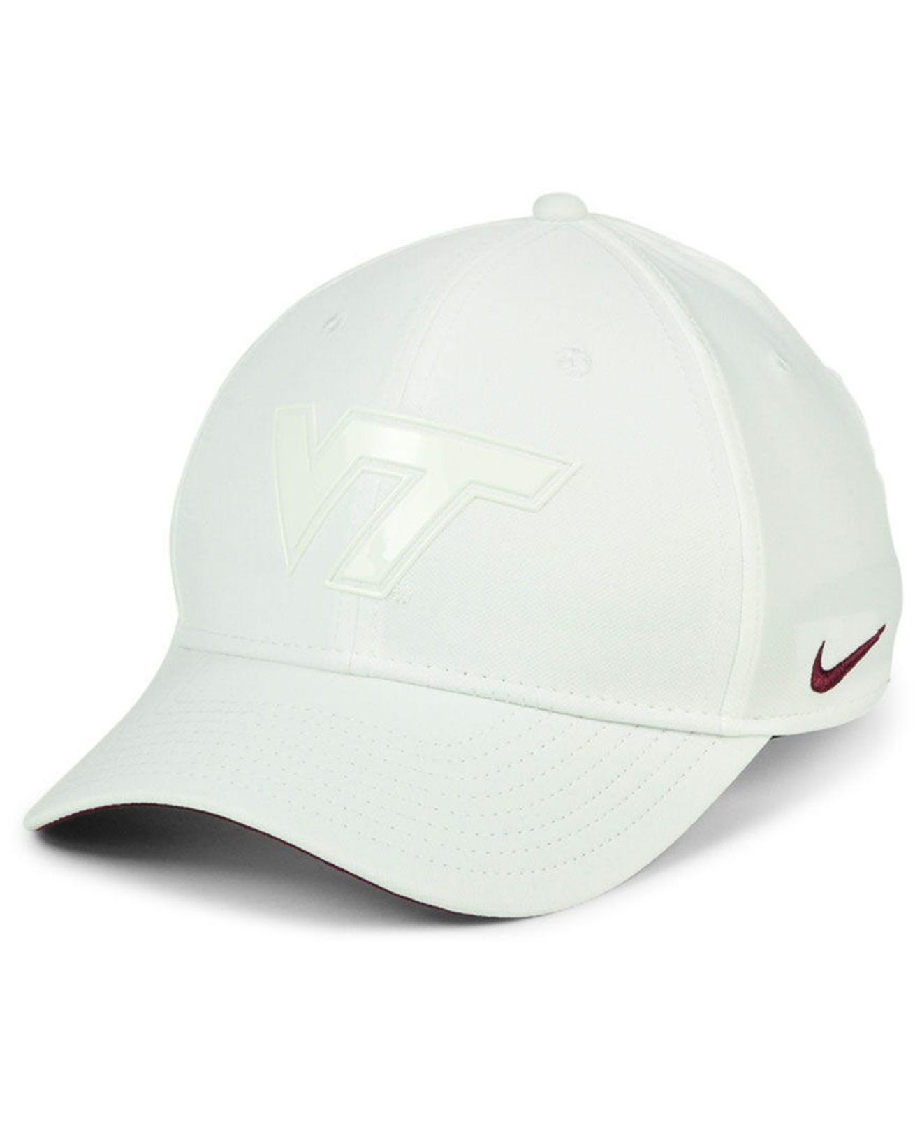half off 1cca6 ff408 ... adjustable performance hat maroon white 9bd63 e339f  closeout nike. mens  white virginia tech hokies col cap 54698 a144e