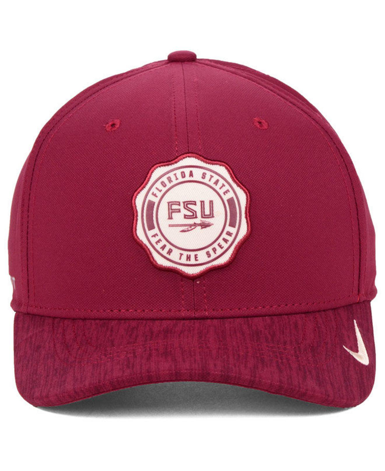 huge selection of 37f55 58116 Lyst - Nike Florida State Seminoles Rivalry Swooshflex Stretch Fitted Cap  in Red for Men