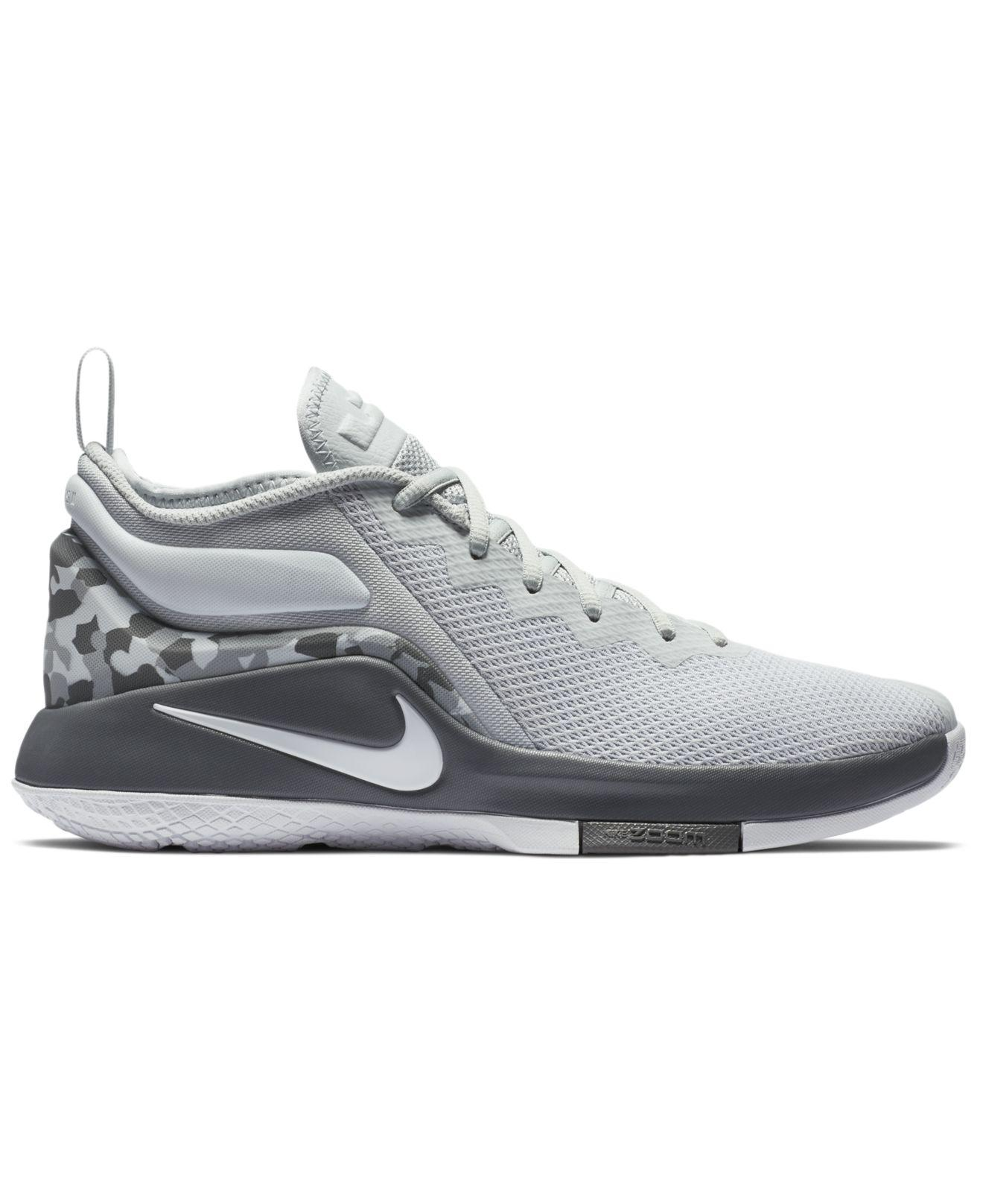Nike. Men's Gray Lebron Witness Ii Basketball Sneakers From Finish Line