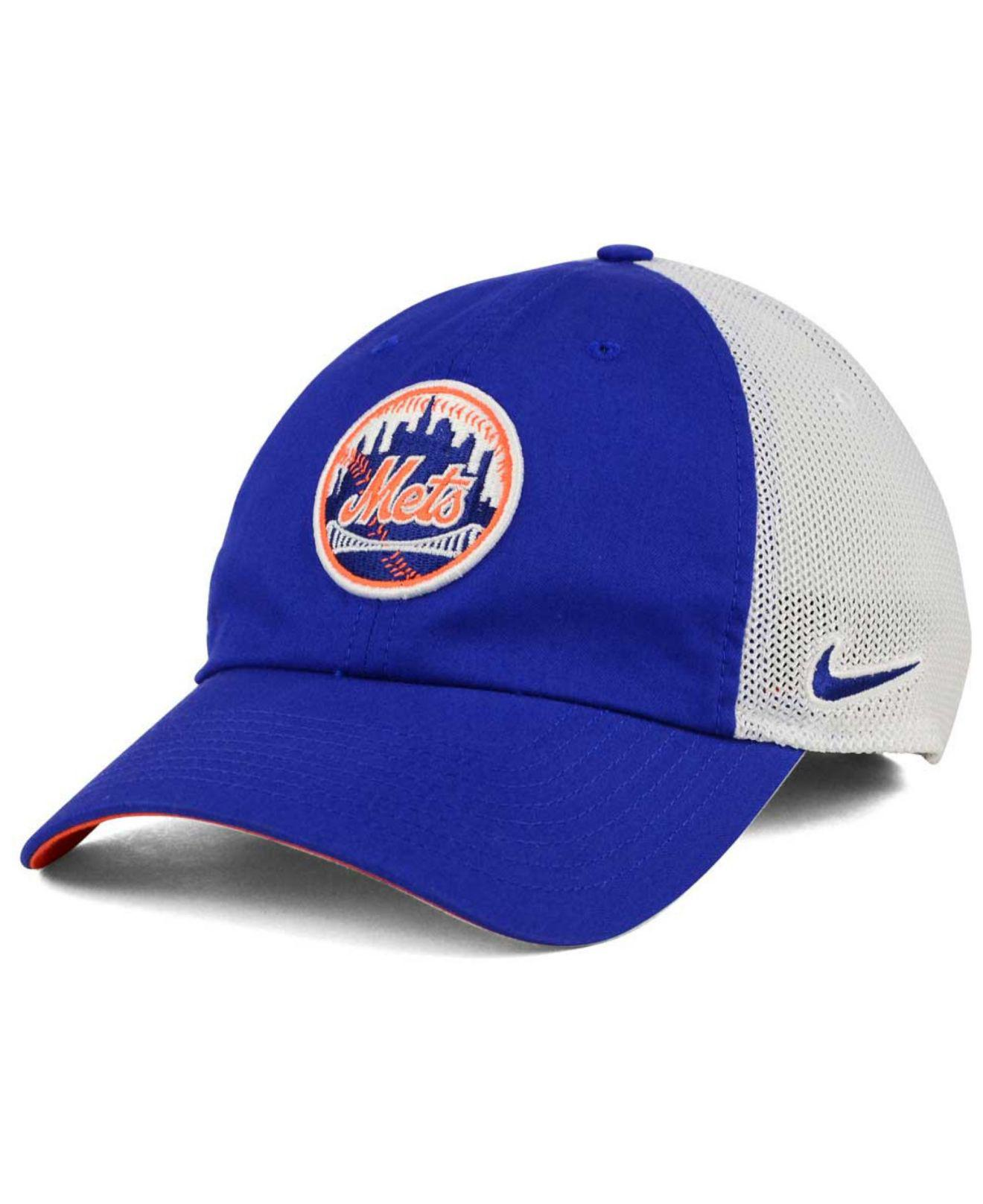 Lyst - Nike New York Mets Dri-fit Mesh Swoosh Adjustable Cap in Blue ... c74b8df8b6b1