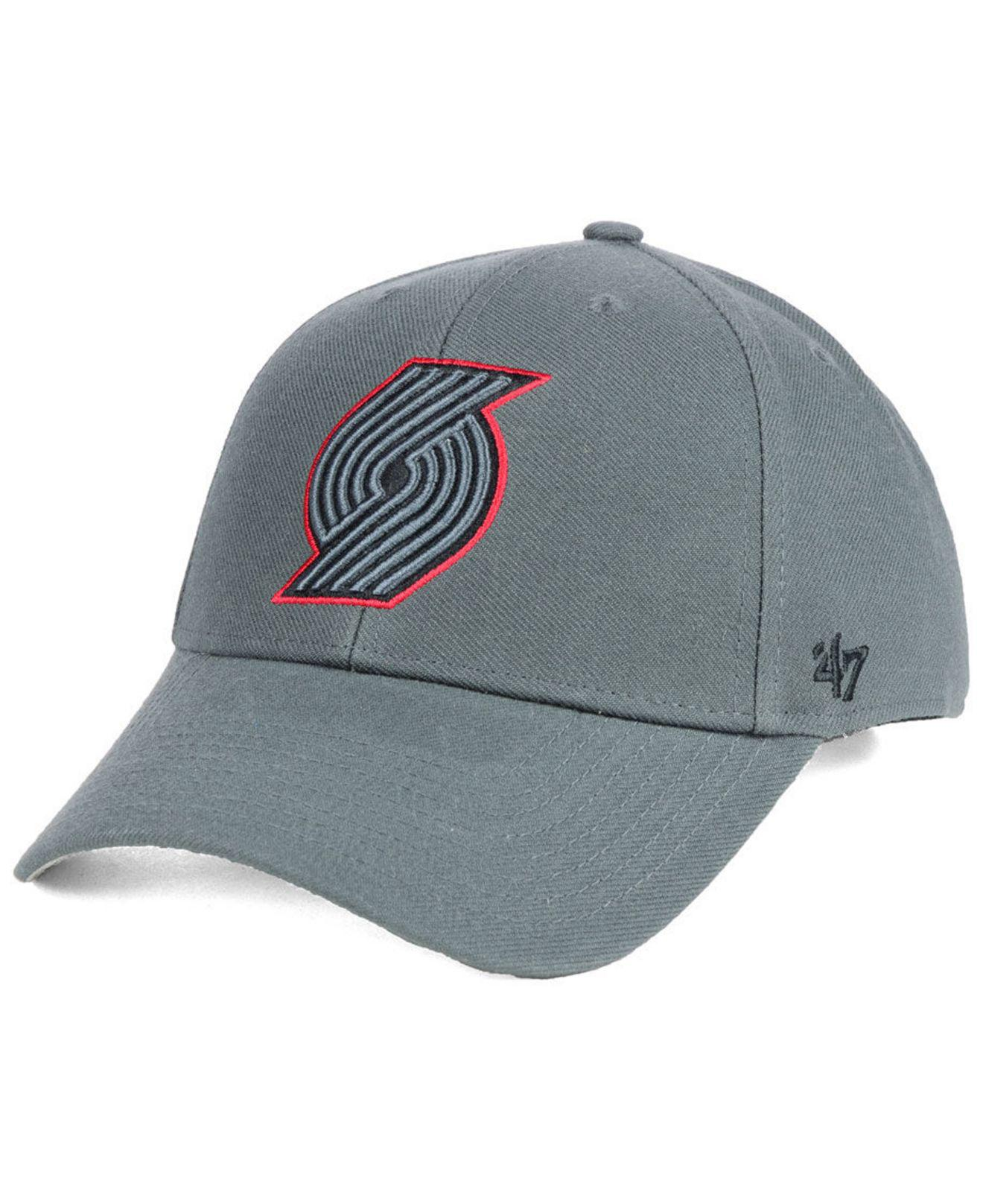 new product 9889d e0115 ... hot lyst 47 brand portland trail blazers charcoal pop mvp cap in gray  105c4 2ae03