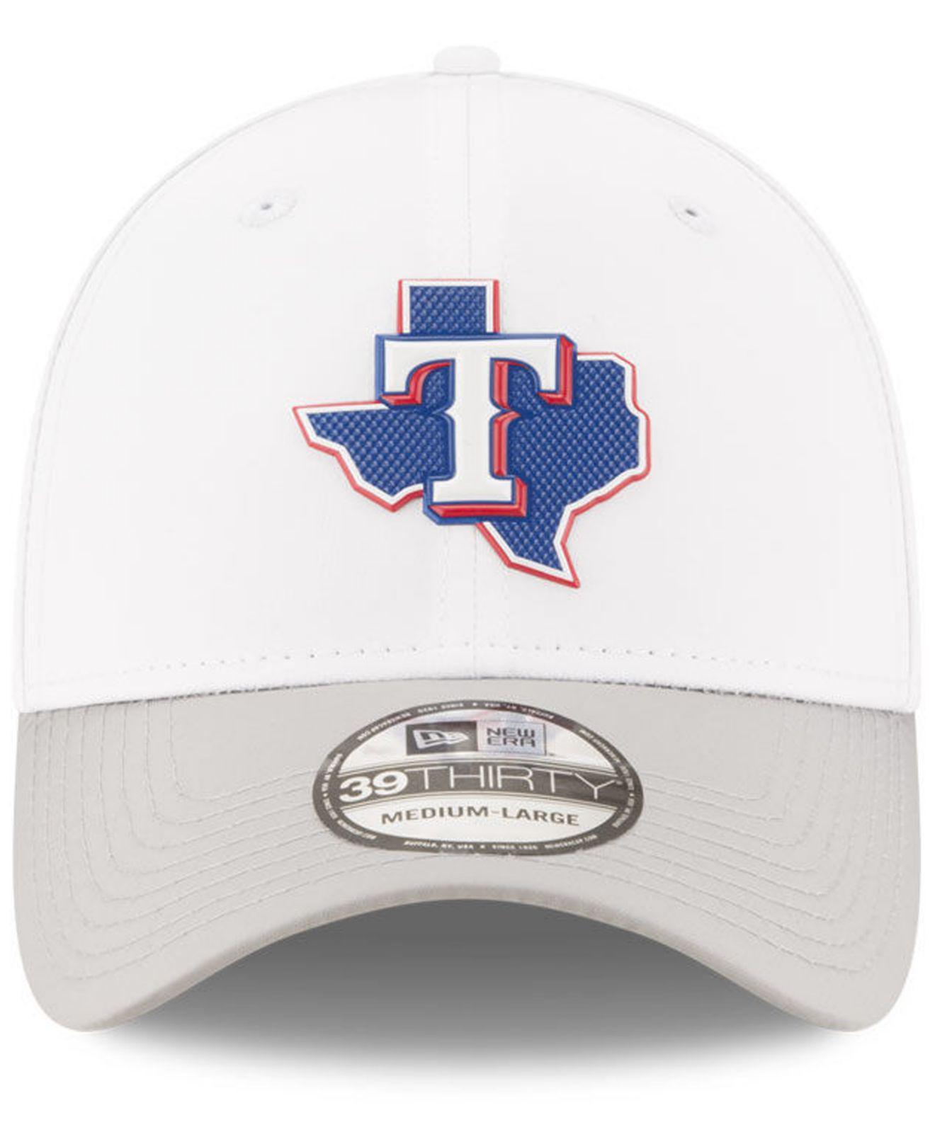 online store 247c6 eae95 Lyst - KTZ Texas Rangers White Batting Practice 39thirty Cap in White for  Men