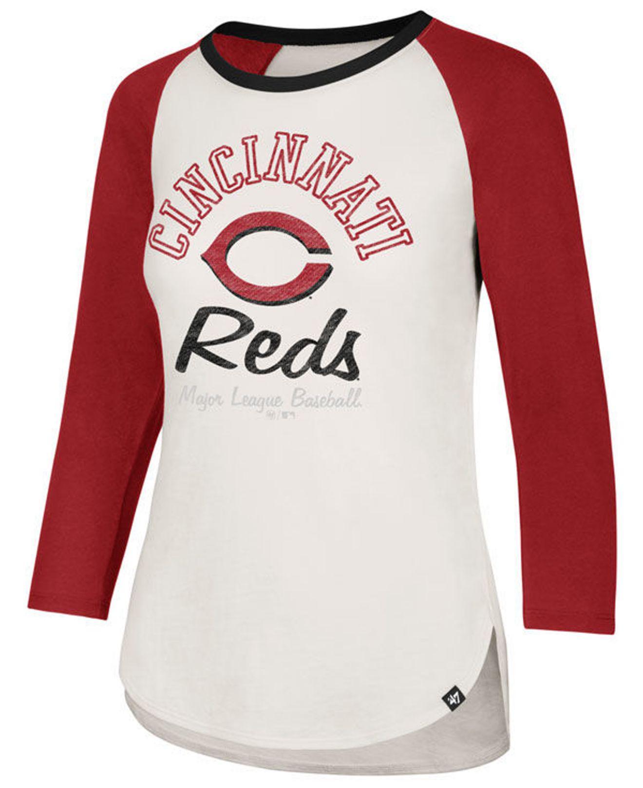 b5fcc9fe 47 Brand Cincinnati Reds Vintage Raglan T-shirt in Red - Save 29% - Lyst