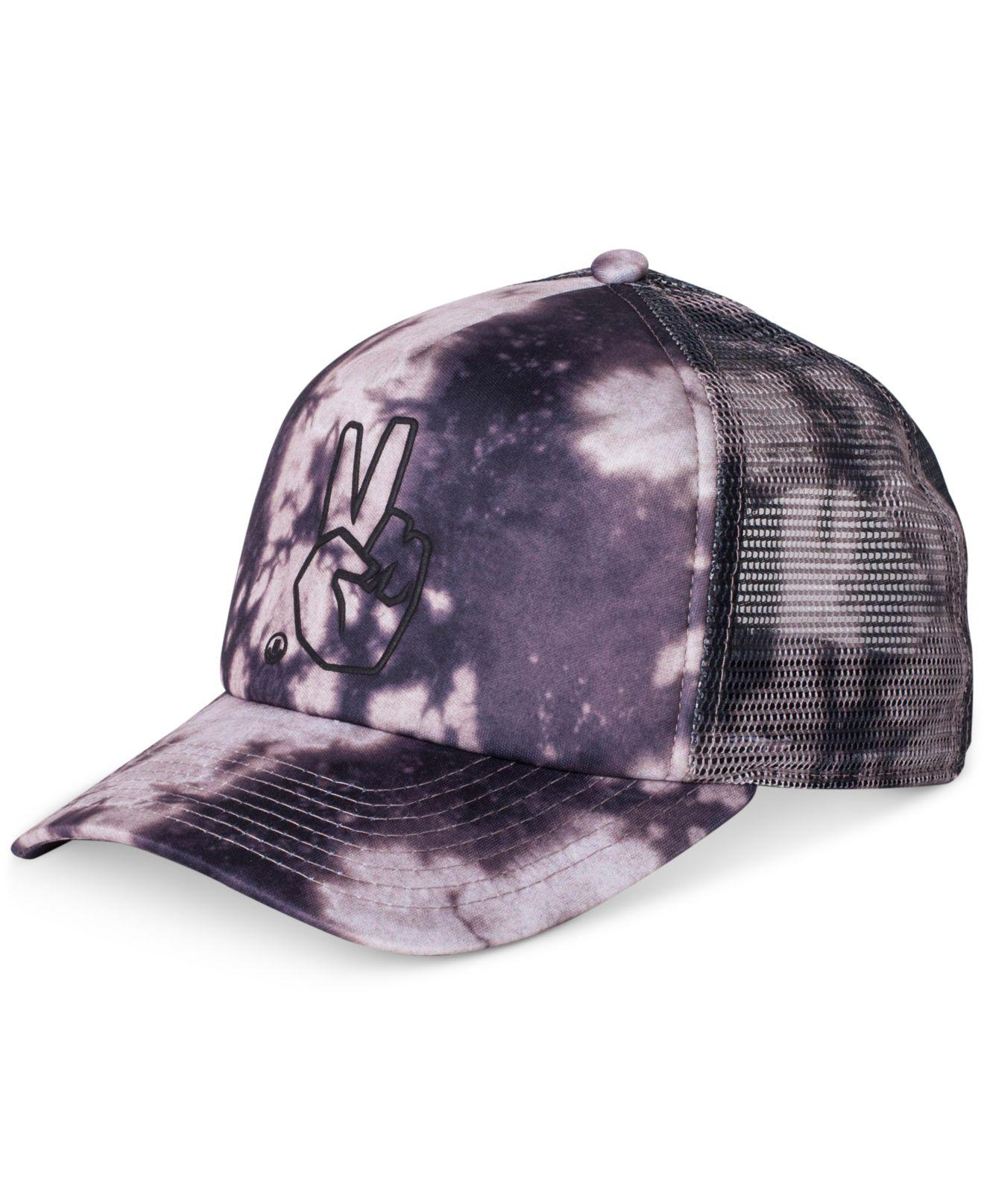 df27db8e Lyst - Neff Peace Acid-wash Embroidered Trucker Hat in Purple for Men