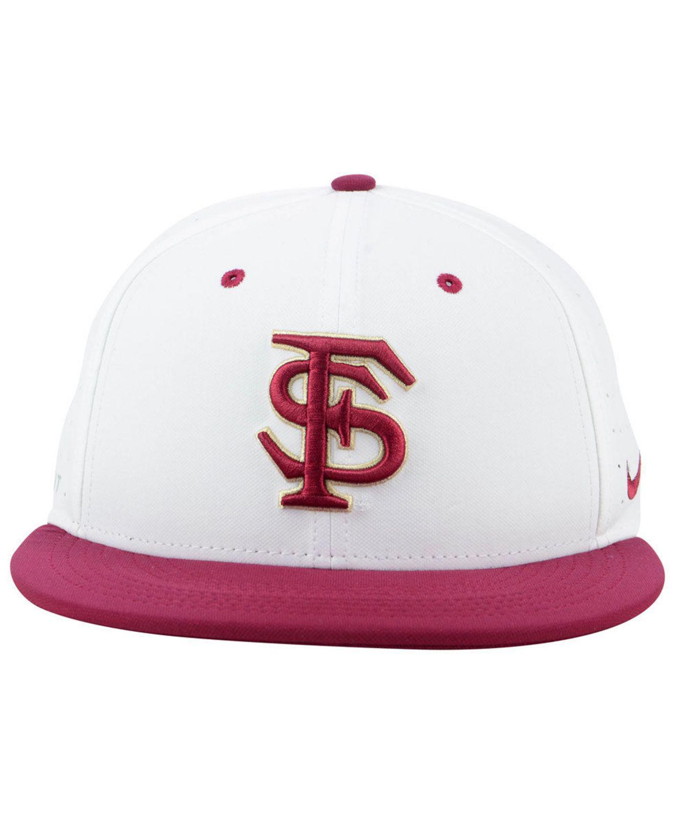 0fb2b5645f393 ... uk lyst nike florida state seminoles aerobill true fitted baseball cap  in white for men 7cbbd