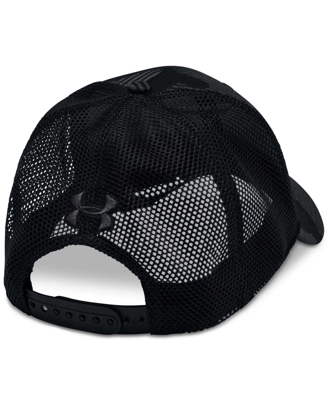 c096c549c Under Armour Ua Pro Printed Trucker Hat in Black for Men - Lyst
