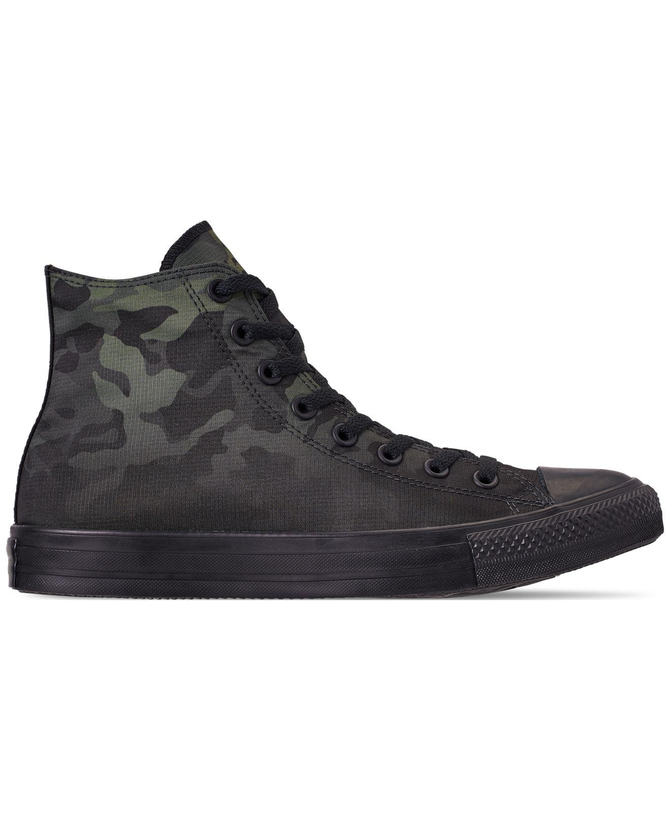 5bd5f70b6589 Lyst - Converse Chuck Taylor All Star Gradient Camo High Top Casual Sneakers  From Finish Line in Black for Men