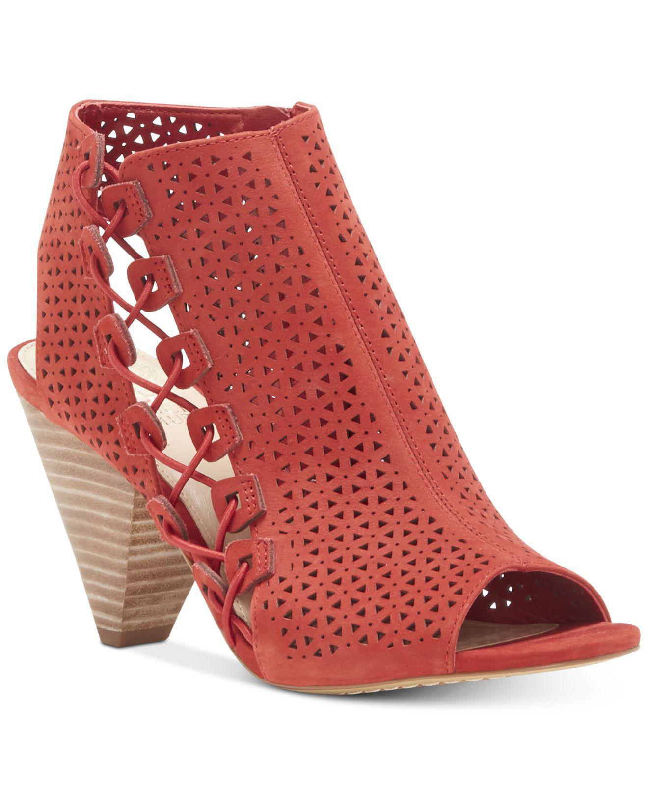 Vince Camuto Elison Cone-Heel Dress Sandals Women's Shoes 8wiDwgtc