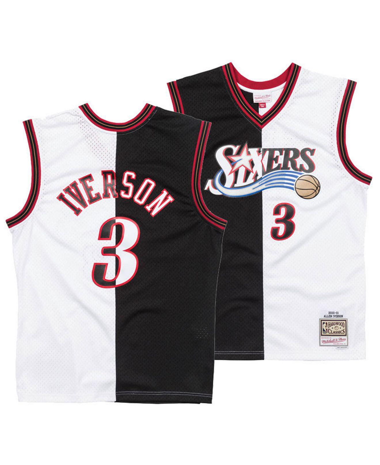 c63a11ed4 Lyst - Mitchell   Ness Allen Iverson Philadelphia 76ers Split ...