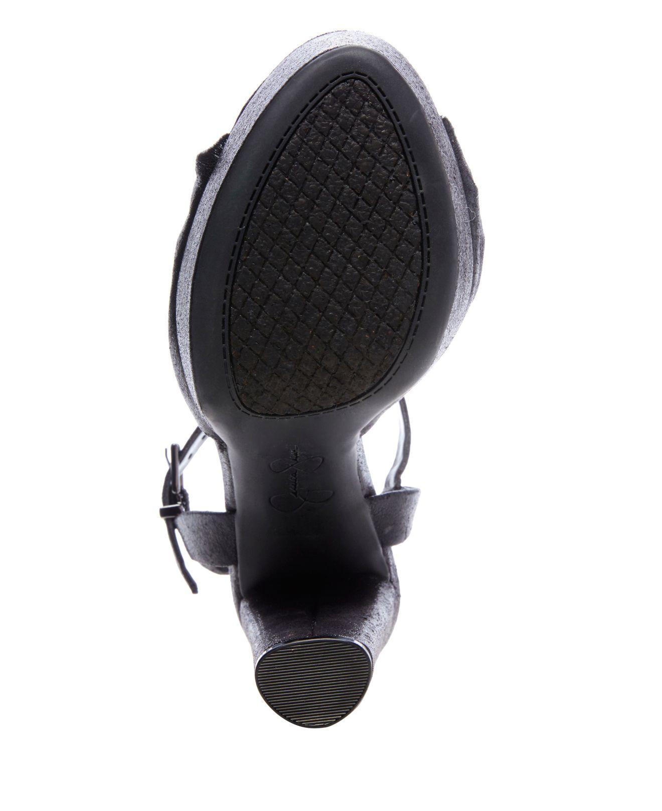 89590cd05fa Jessica Simpson - Black Ivrey Knot Platform Sandals - Lyst. View fullscreen