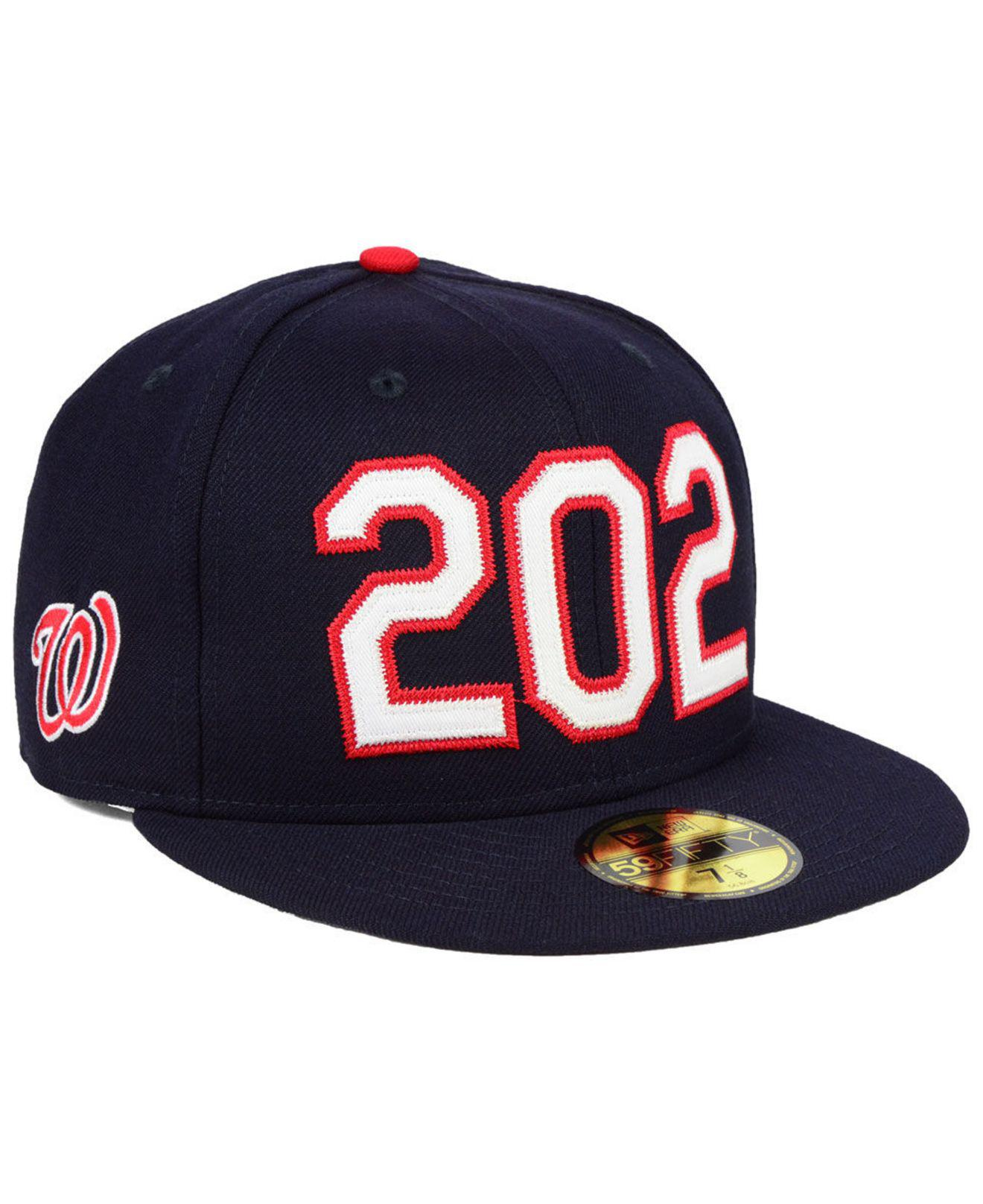 quality design b24ea 25e07 KTZ. Men s Blue Washington Nationals Area Code 59fifty Fitted Cap
