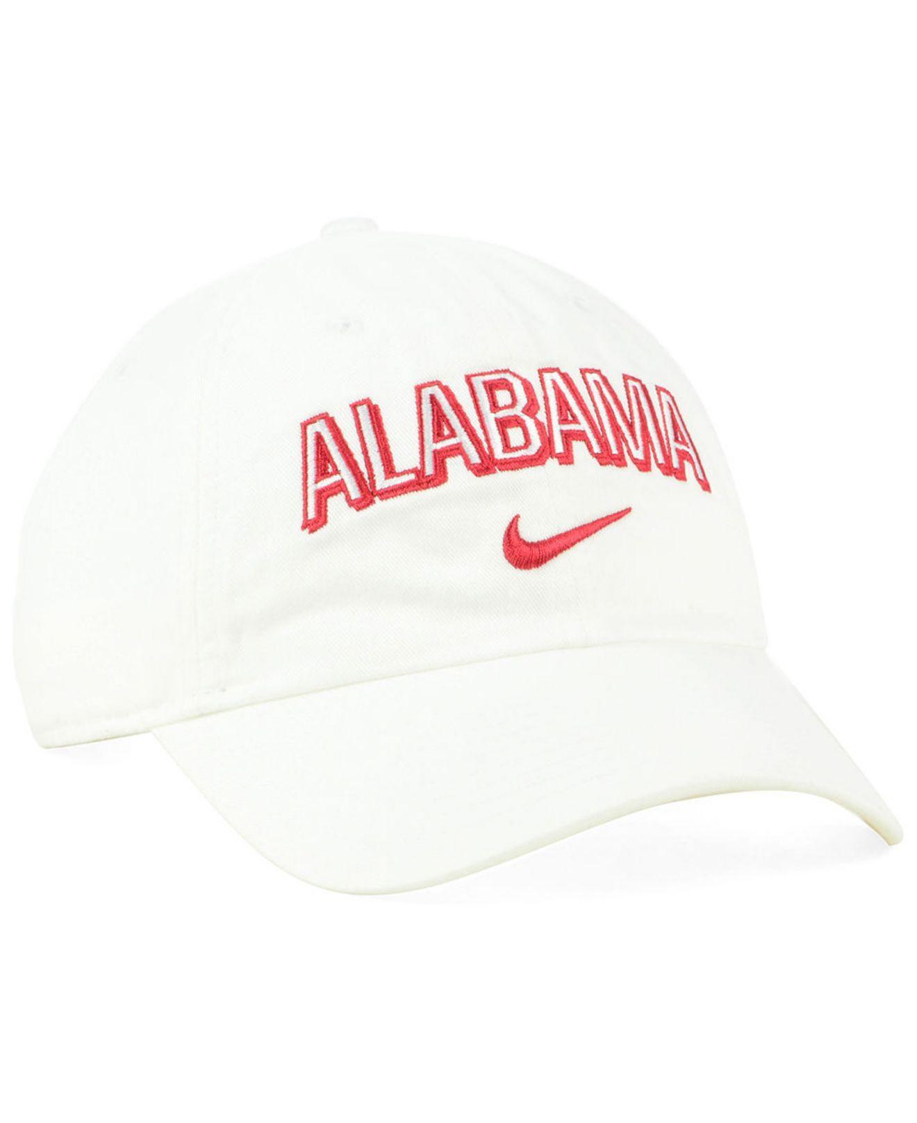 promo code df68a 32280 Nike - White Alabama Crimson Tide H86 Wordmark Swoosh Cap for Men - Lyst.  View fullscreen