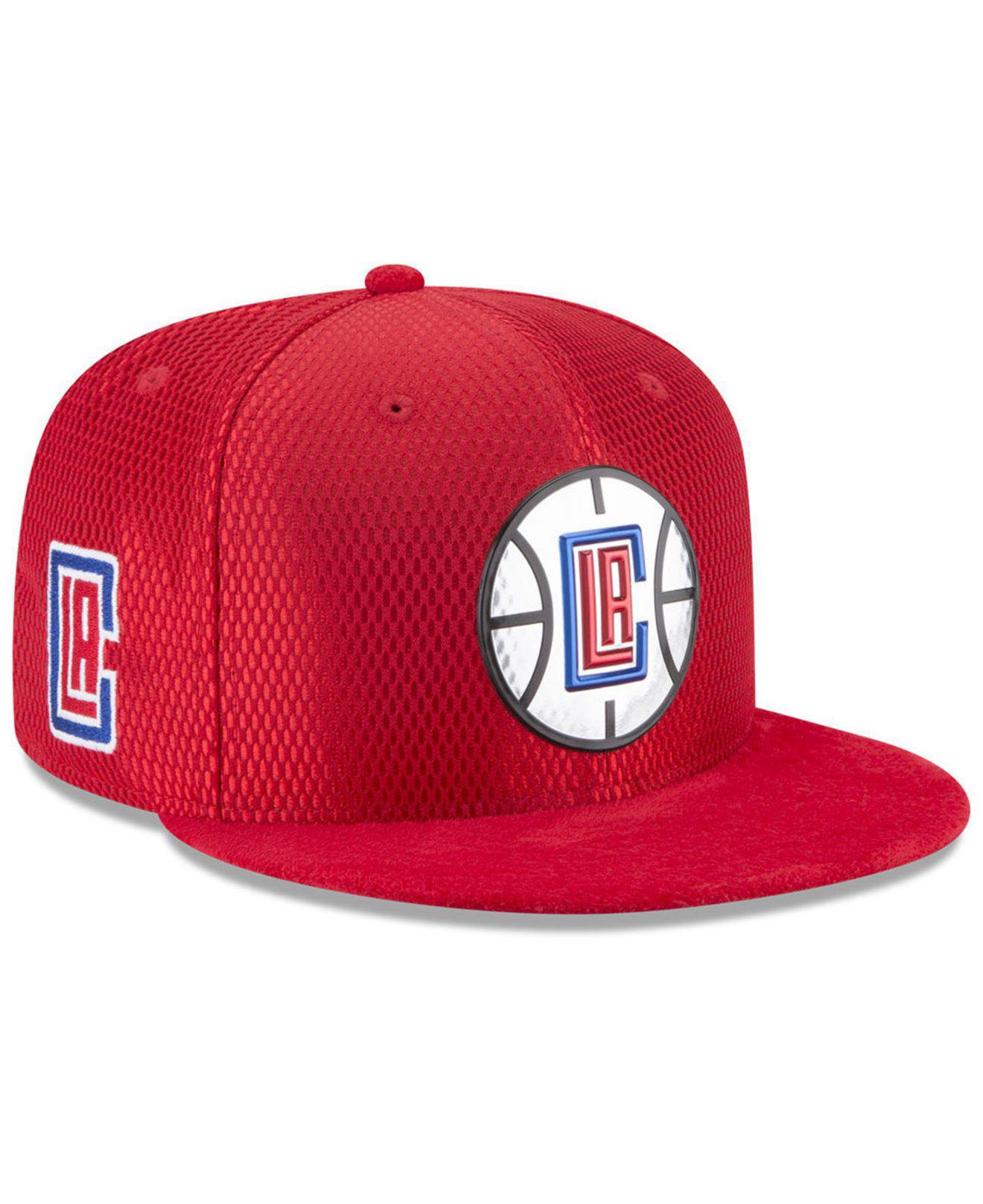 new concept e3701 635b6 Lyst - KTZ Los Angeles Clippers On Court Reverse 9fifty Snapback Cap ...
