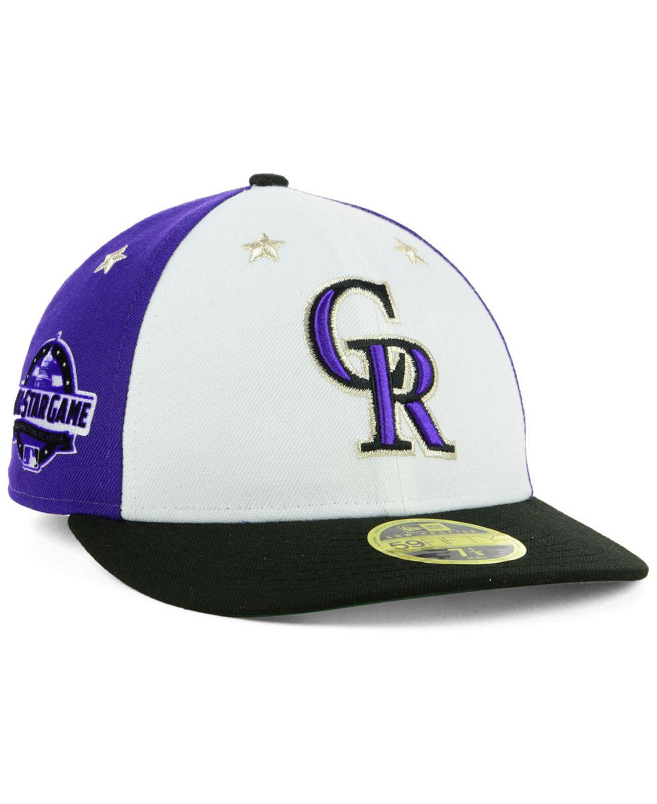 timeless design 035e8 8d48b KTZ Colorado Rockies All Star Game Patch Low Profile 59fifty Fitted ...