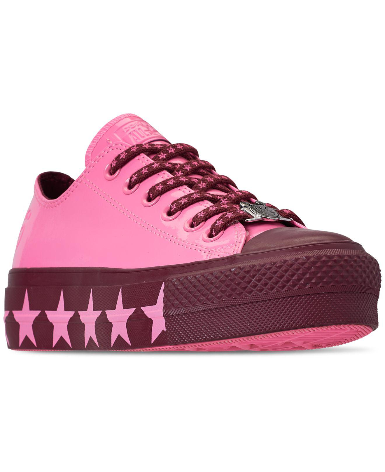 ea8e5b00375 Converse. Women s Pink Chuck Taylor All Star X Miley Cyrus Ox Lift Casual  Sneakers ...