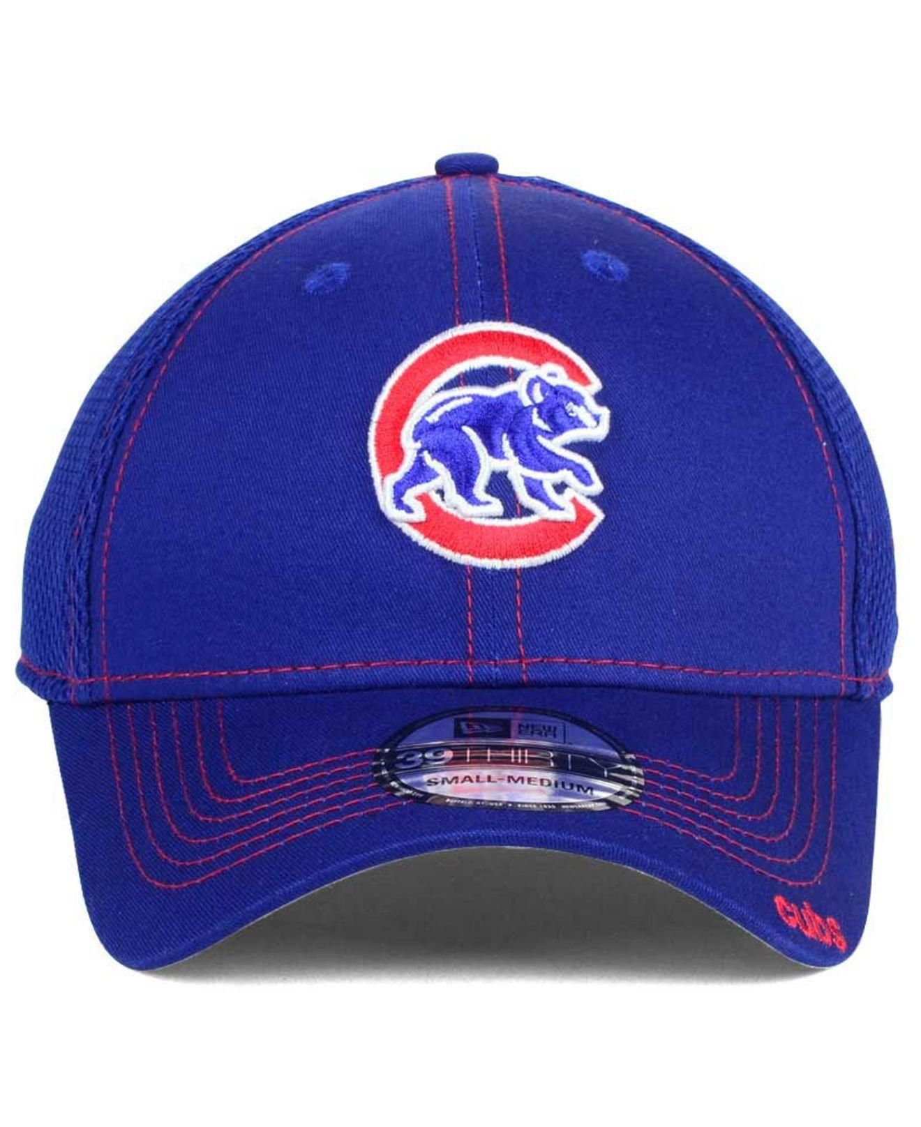 release date b2b00 a039e Lyst - KTZ Chicago Cubs Core Neo 39thirty Stretch Fitted Cap in Blue for Men