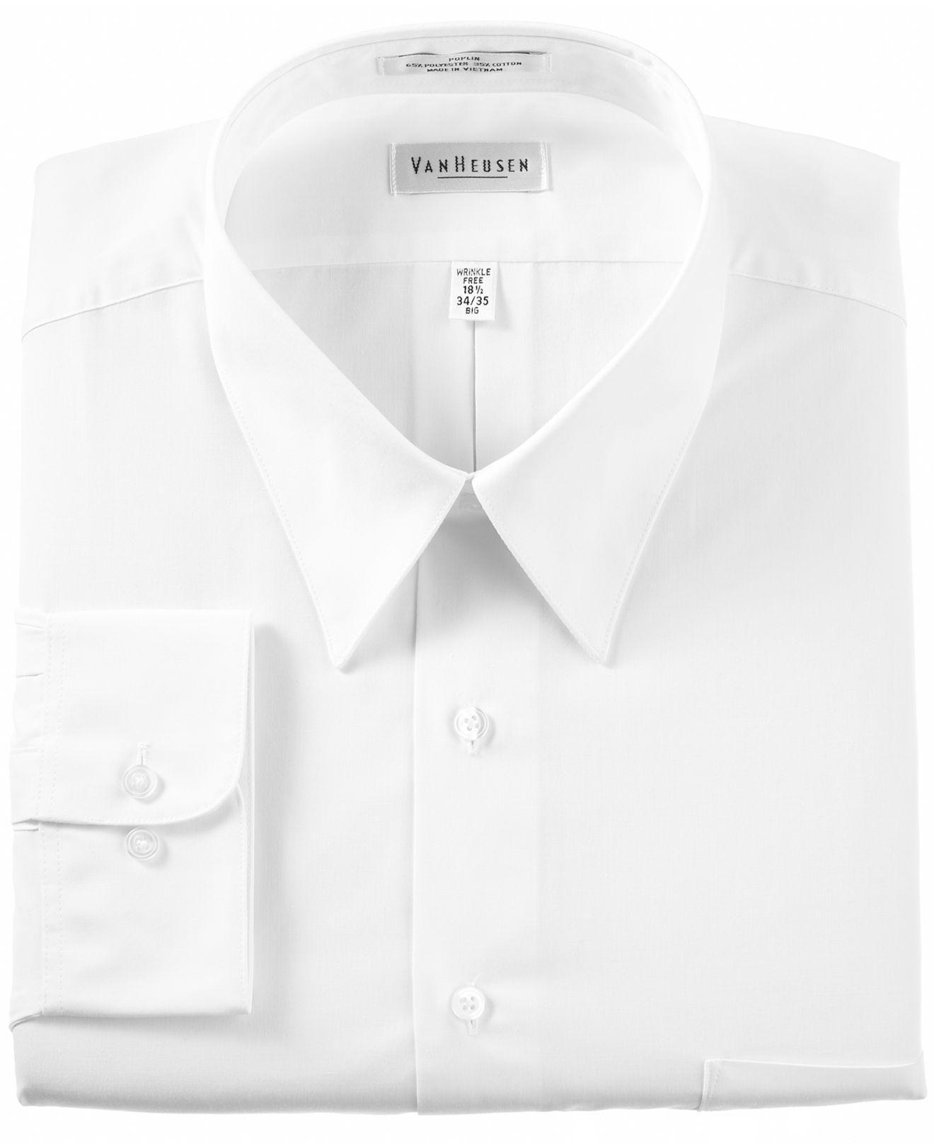 Lyst Van Heusen Mens Classic Fit Poplin Dress Shirt In White For Men