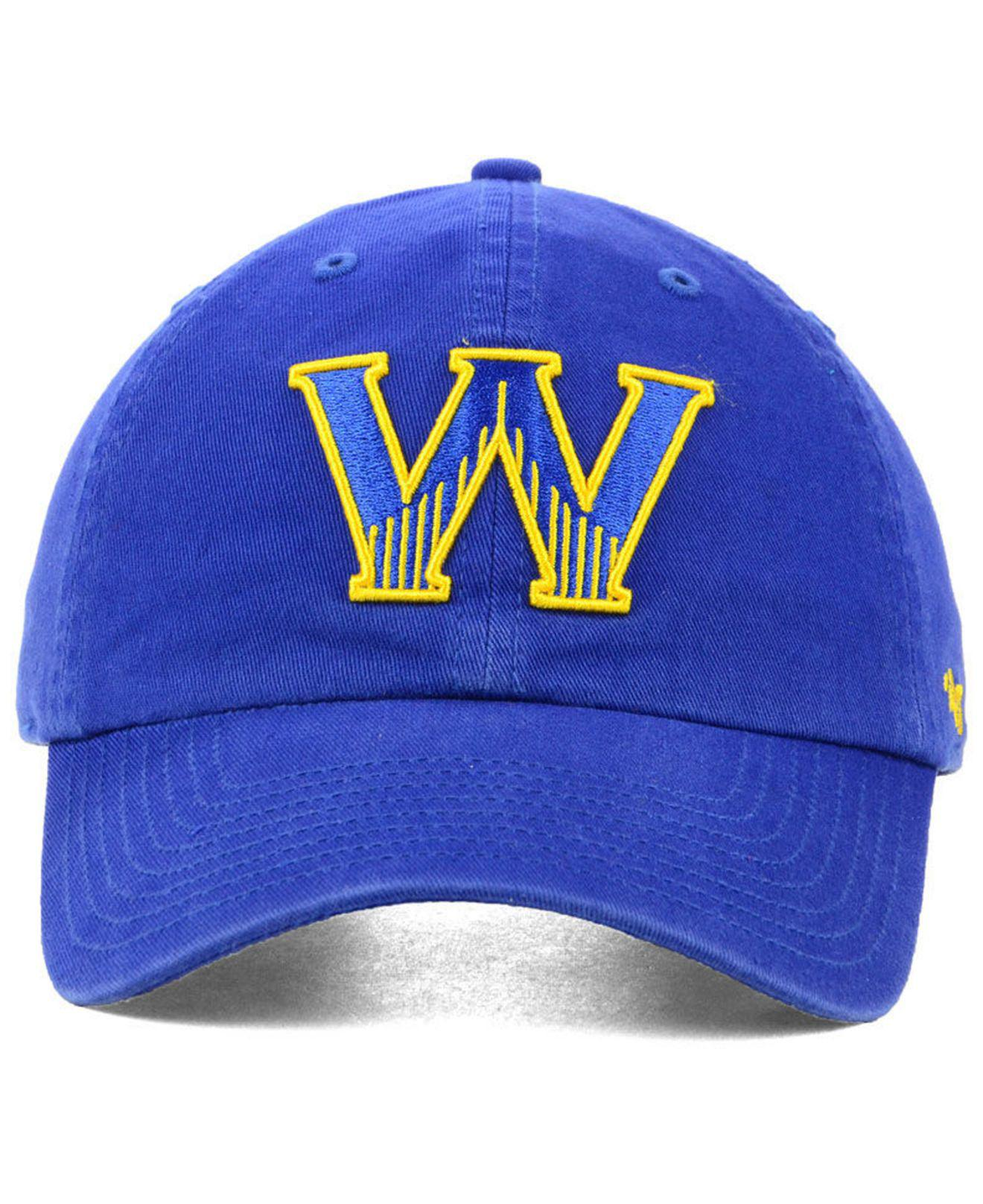 1dad15a1329be Lyst - 47 Brand Golden State Warriors Mash Up Clean Up Cap in Blue for Men