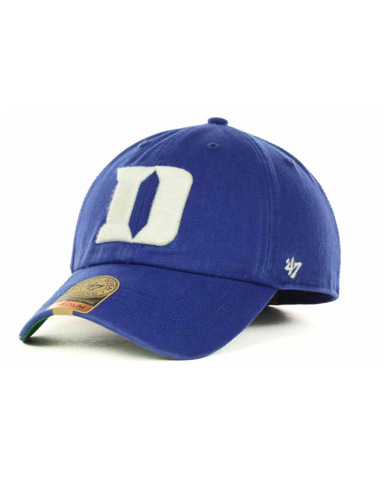 buy online 7d00a f65b7 ... clean up cap d41e6 e99bd  cheap lyst 47 brand duke blue devils  franchise cap in blue for men 9798b c3243