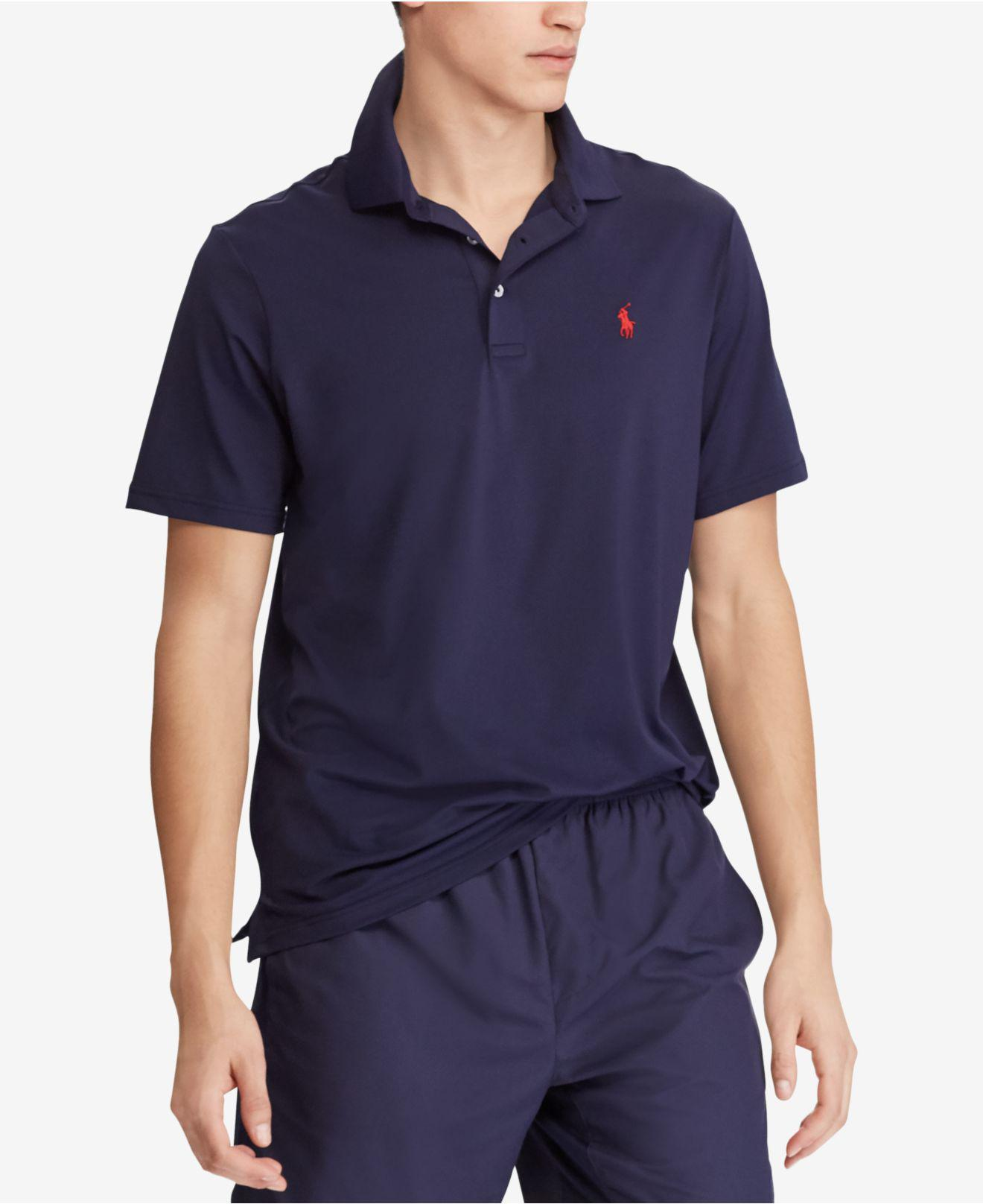 422b30a5bf6 Lyst - Polo Ralph Lauren Classic Fit Performance Polo in Blue for Men