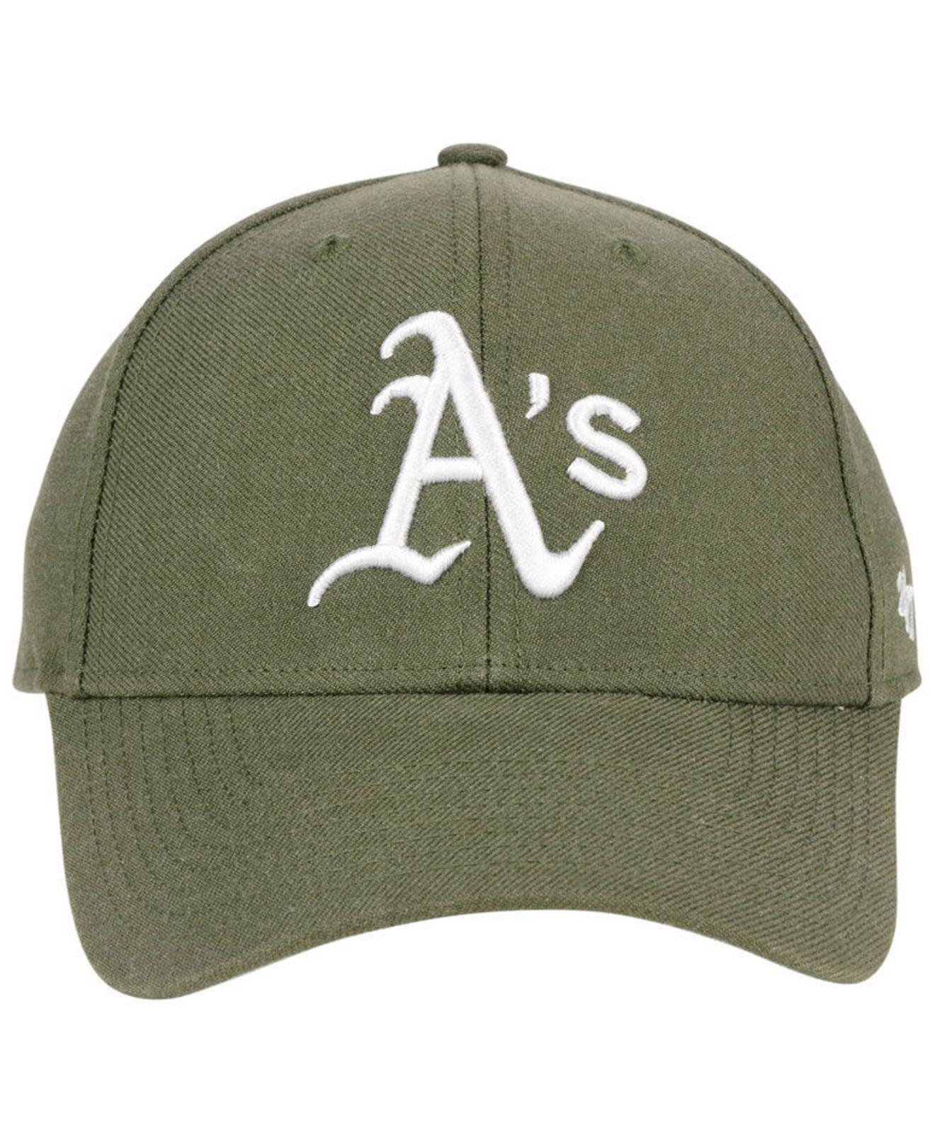 cheap for discount d35fb 856cd ... shop lyst 47 brand oakland athletics olive mvp cap in green for men  e7142 59685