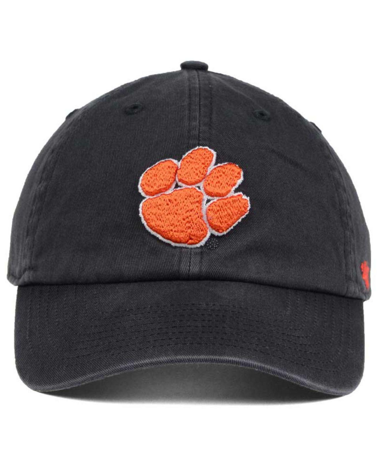online store 0e420 a1c28 Lyst - 47 Brand Clemson Tigers Clean Up Cap in Gray for Men