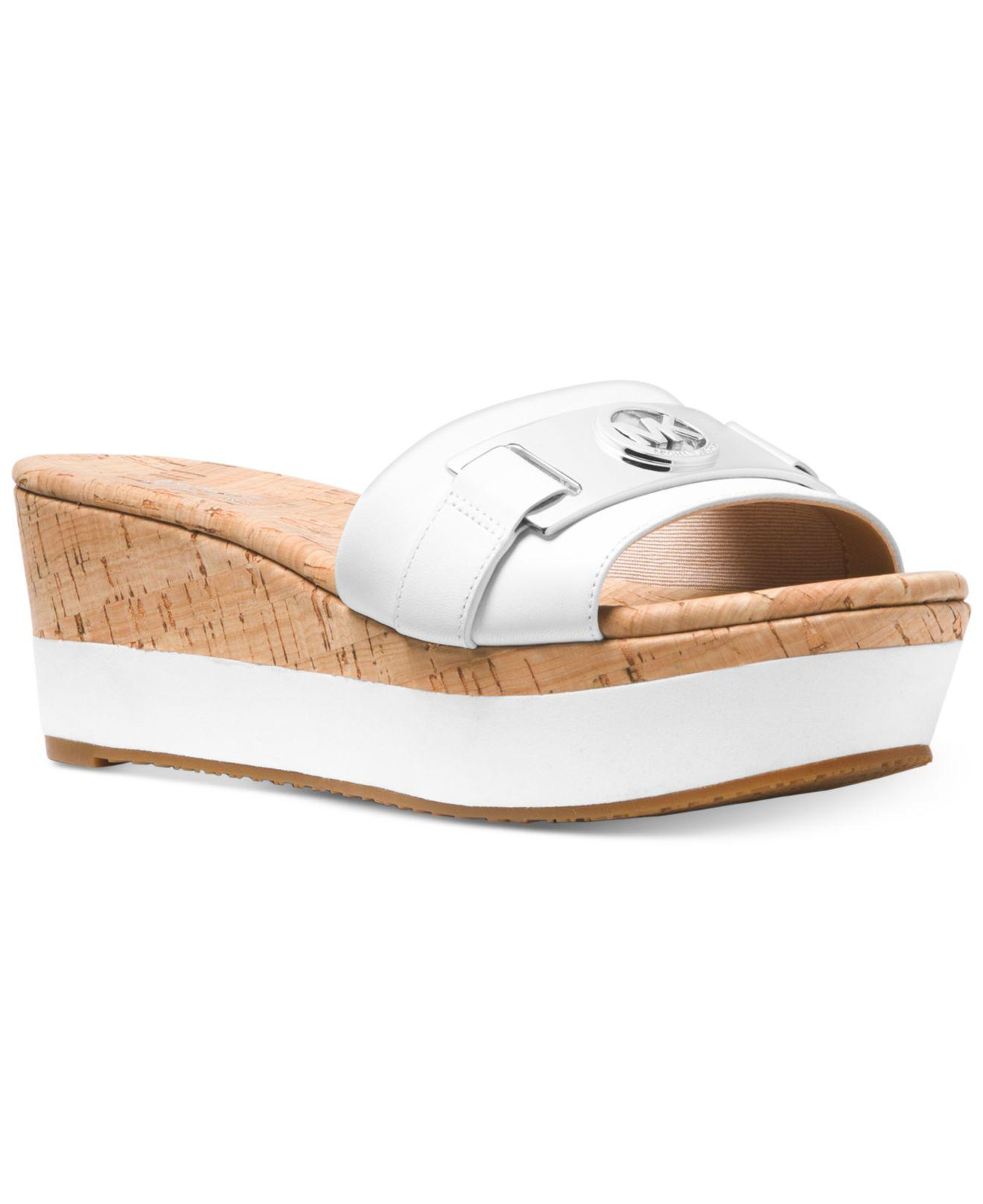 ea6f187b81e Michael Kors Michael Warren Platform Wedge Sandals in White - Save 4 ...