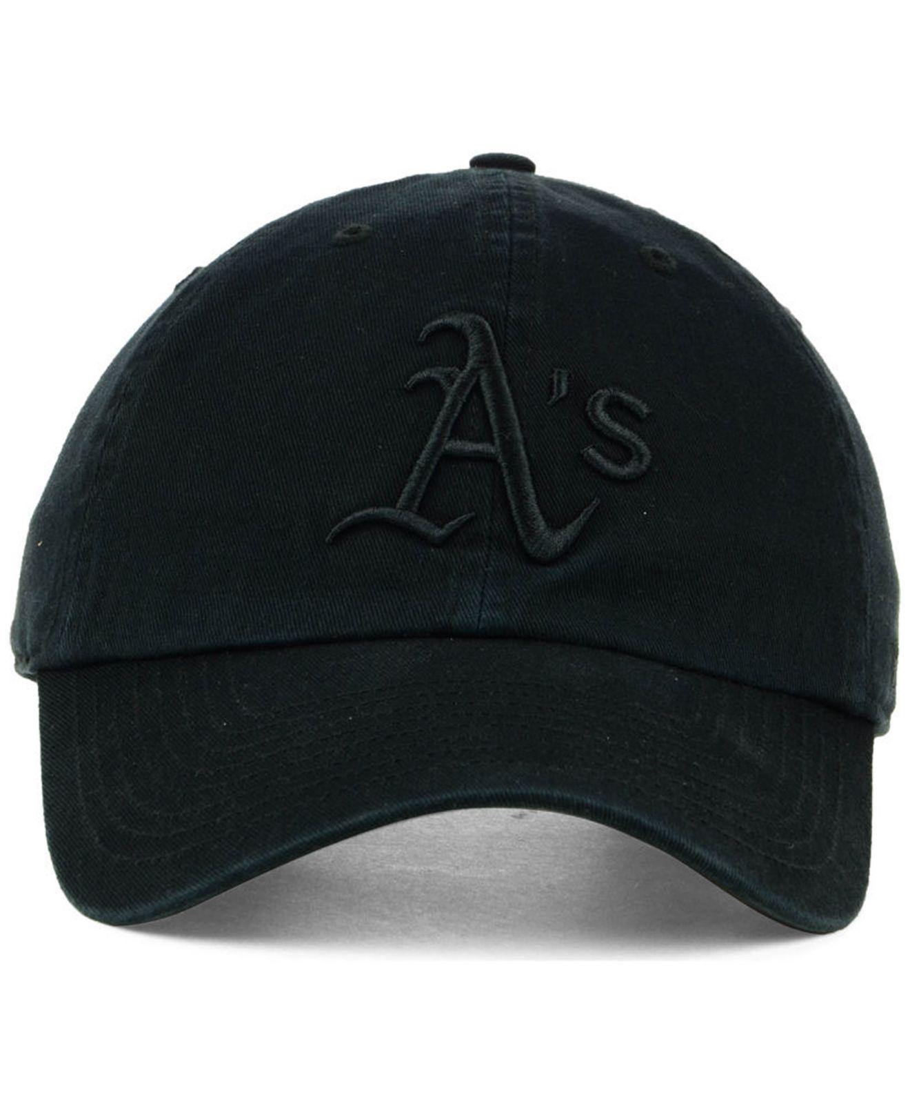 new products 3dc6a e0df6 canada oakland athletics hats as baseball caps snapbacks fansedge a3a92  a120d  where to buy lyst 47 brand oakland athletics black on black clean up  cap in ...