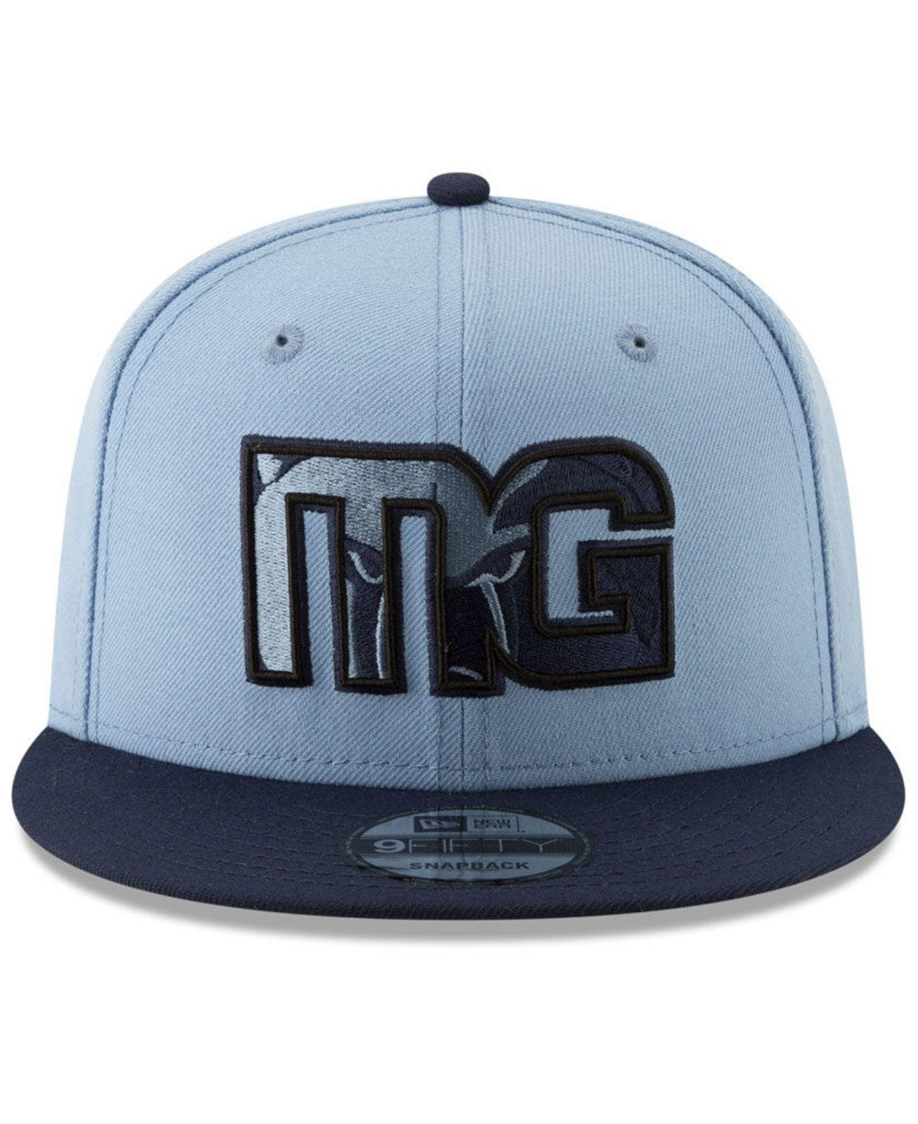 new styles 89779 1a1e2 Lyst - KTZ Memphis Grizzlies Light City Combo 9fifty Snapback Cap in Blue  for Men