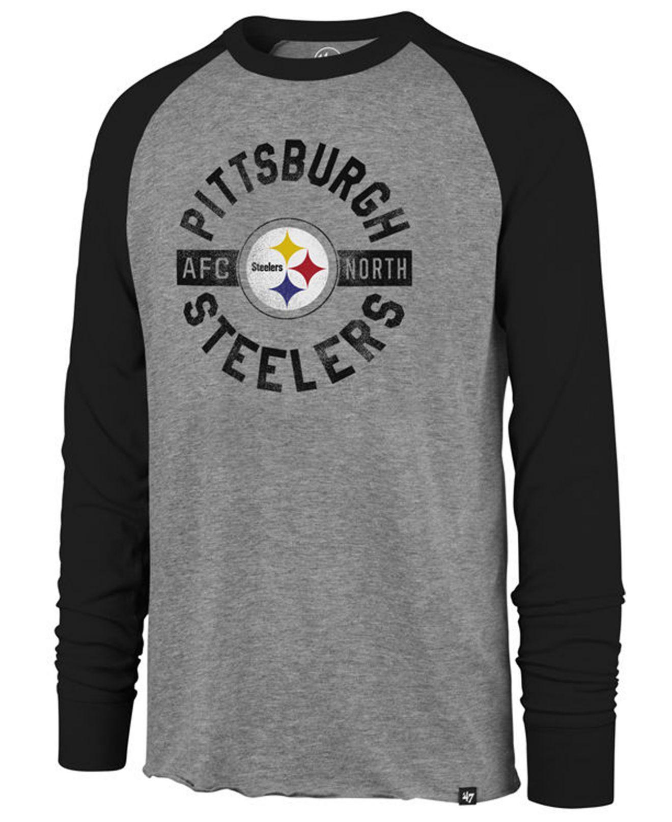 d8439afa7fa Lyst - 47 Brand Pittsburgh Steelers Retro Encircled Long Sleeve Club ...