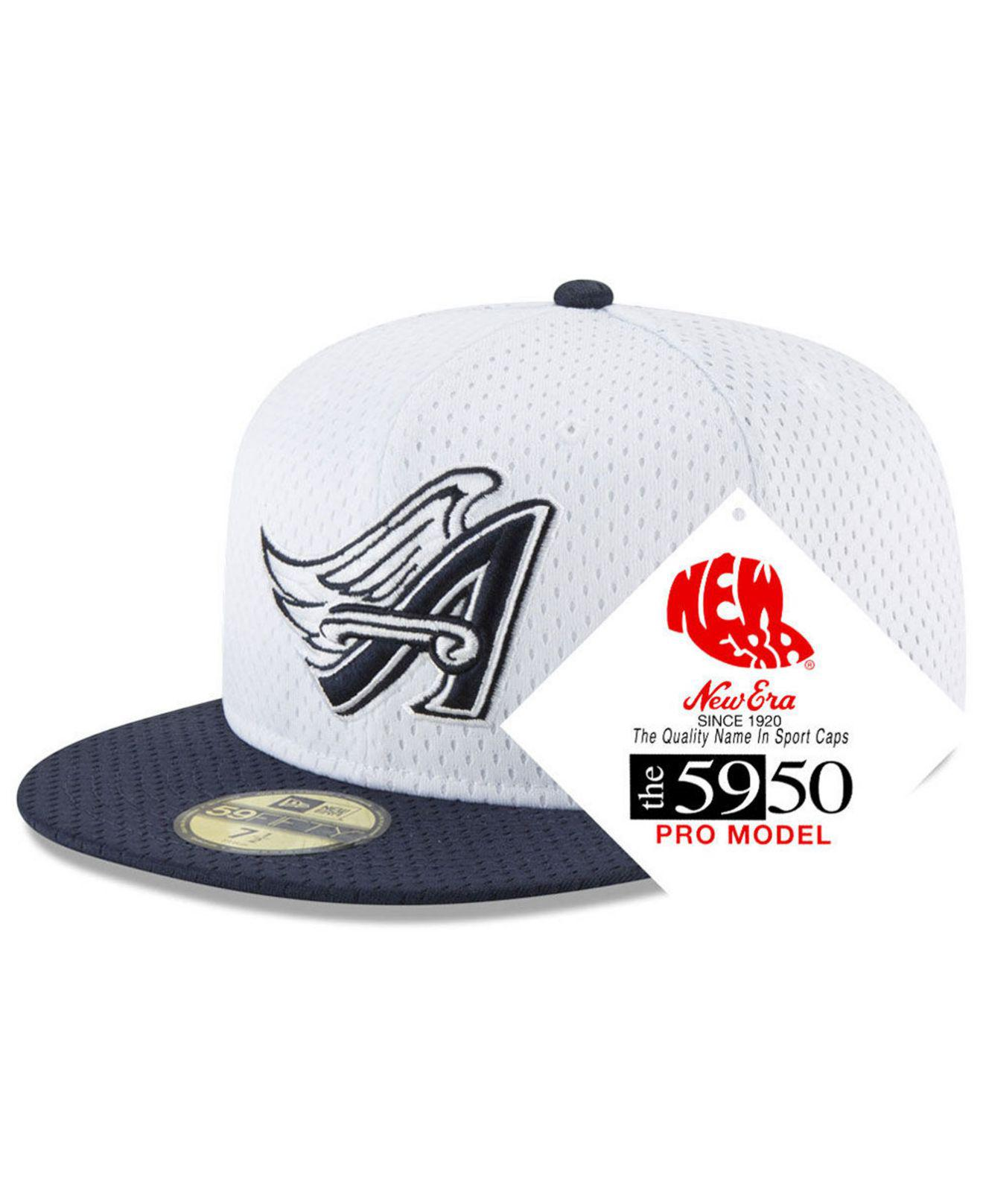 check out 7b0e1 ed556 ... germany ktz. mens white los angeles angels retro classic batting  practice 59fifty fitted cap dadf5