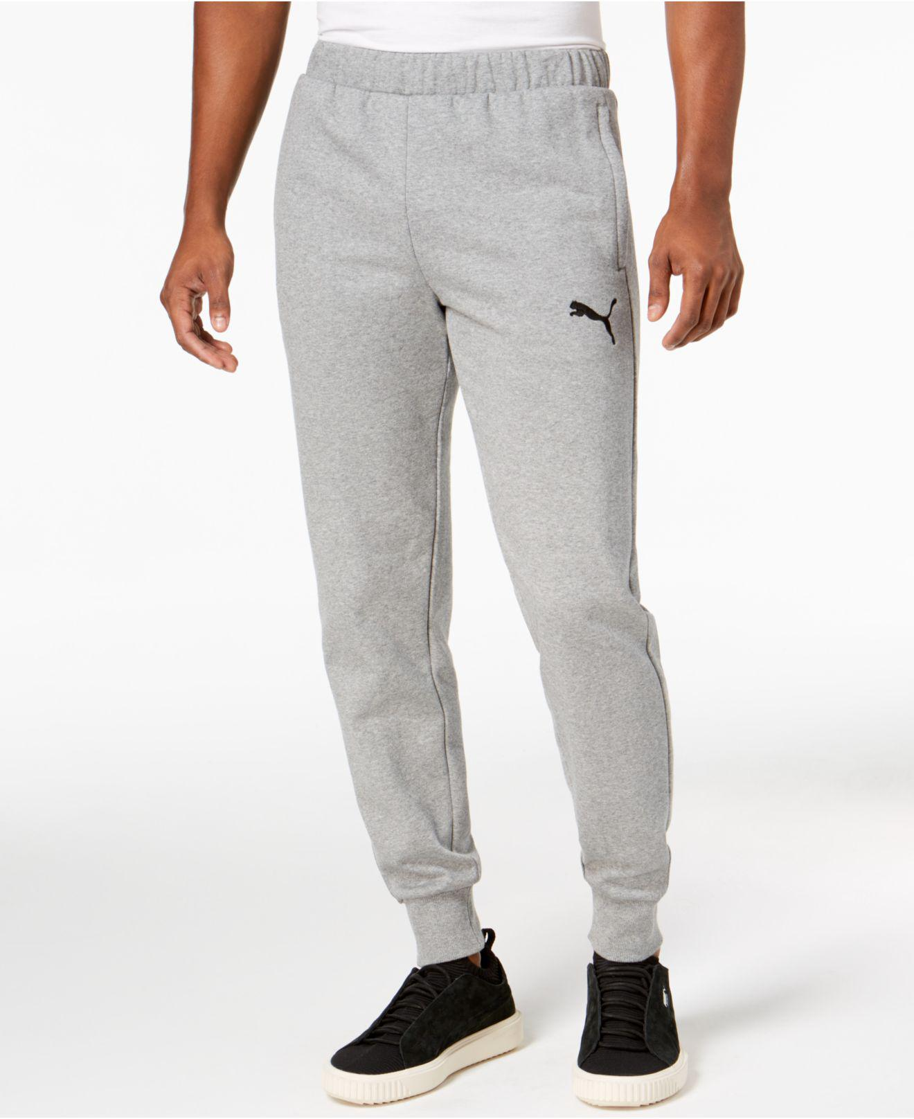 5f98643c154a Lyst - PUMA Fleece Joggers in Gray for Men