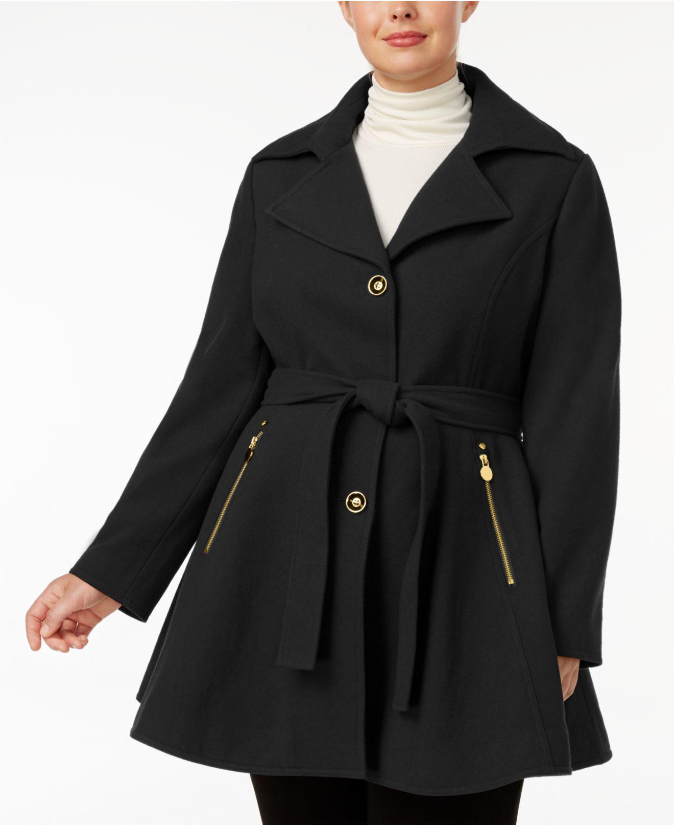 5957a8728b579 INC International Concepts. Women s Black Plus Size Skirted Walker Coat