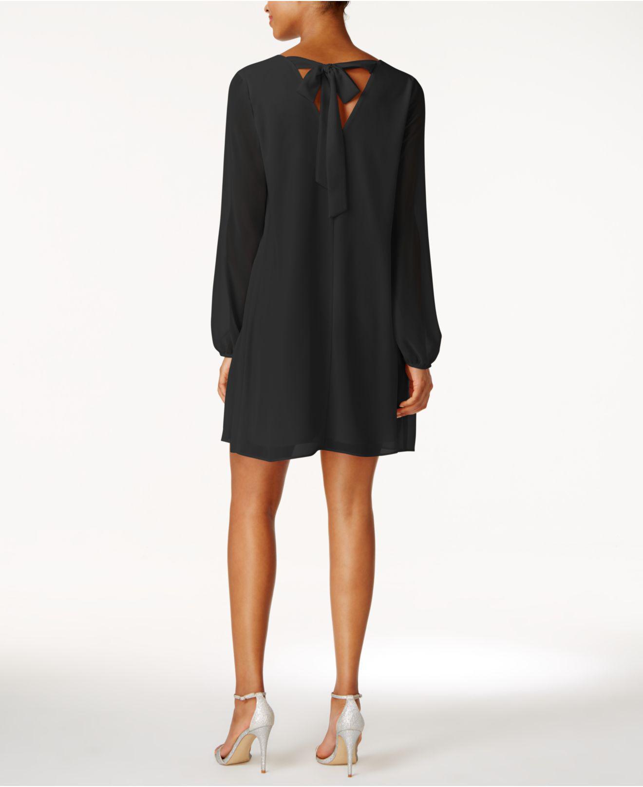 3ba9d8f962f BCBGeneration Chiffon Cocktail Dress in Black - Lyst