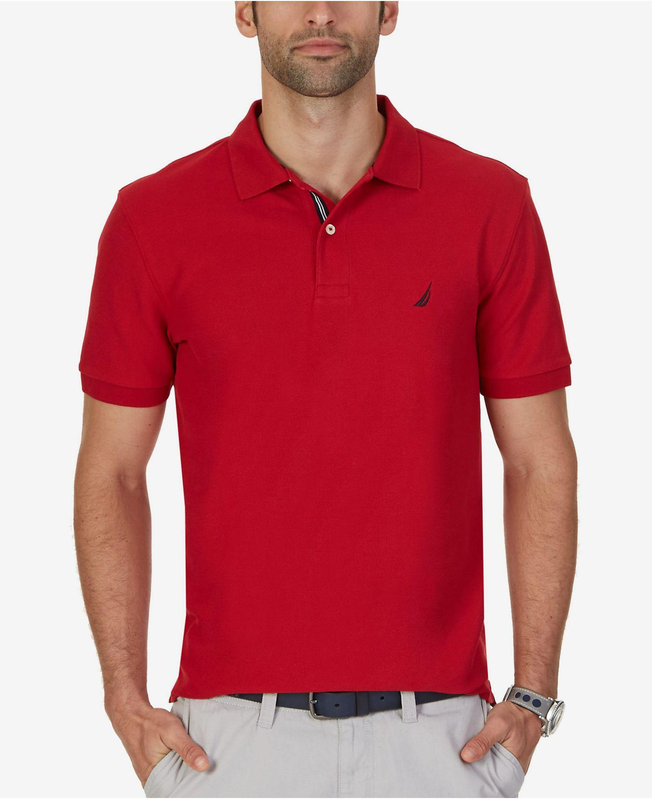 f7899ace Lyst - Nautica Big And Tall Performance Deck Polo in Red for Men ...