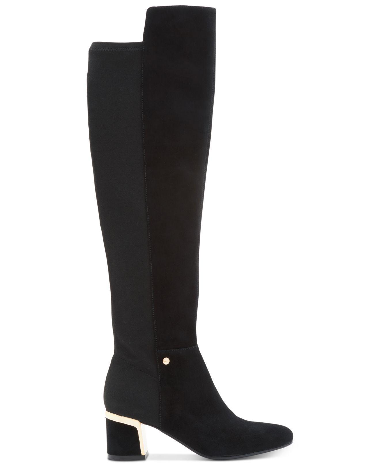 918b4b2b8c5 Lyst - DKNY Cora Wide Calf Boots