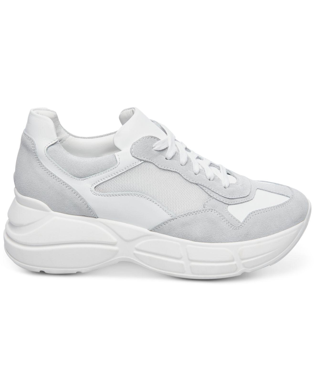 64a75b43885 Steve Madden Memory Platform Wedge Sneaker (women) in White - Lyst
