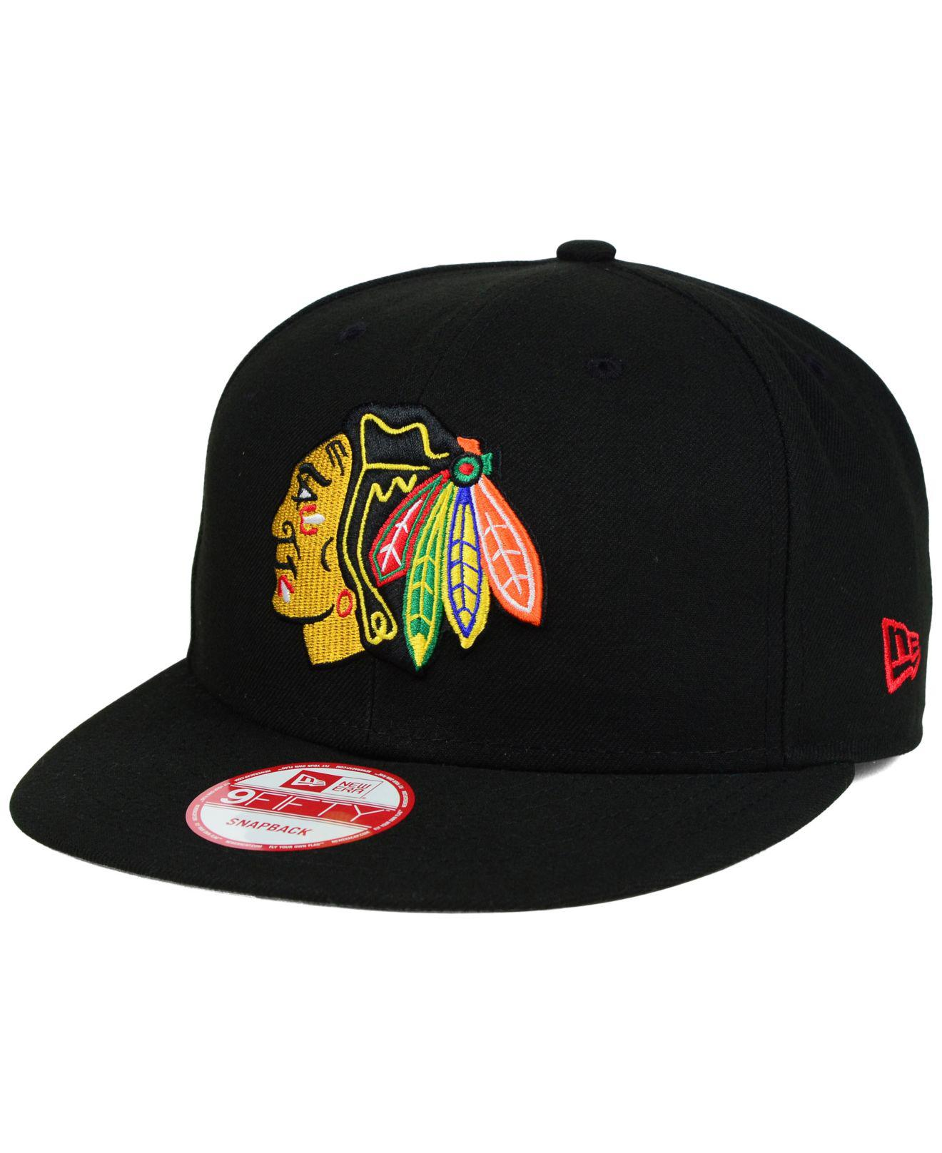 7b2f565c4ab ... hot ktz chicago blackhawks all day 9fifty snapback cap for men lyst.  view fullscreen e6f98