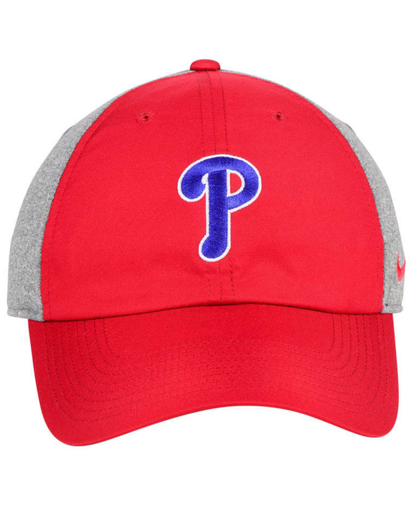 reputable site 424ab b4266 ... wholesale lyst nike philadelphia phillies new day legend cap in red for  men dfb33 6a9af