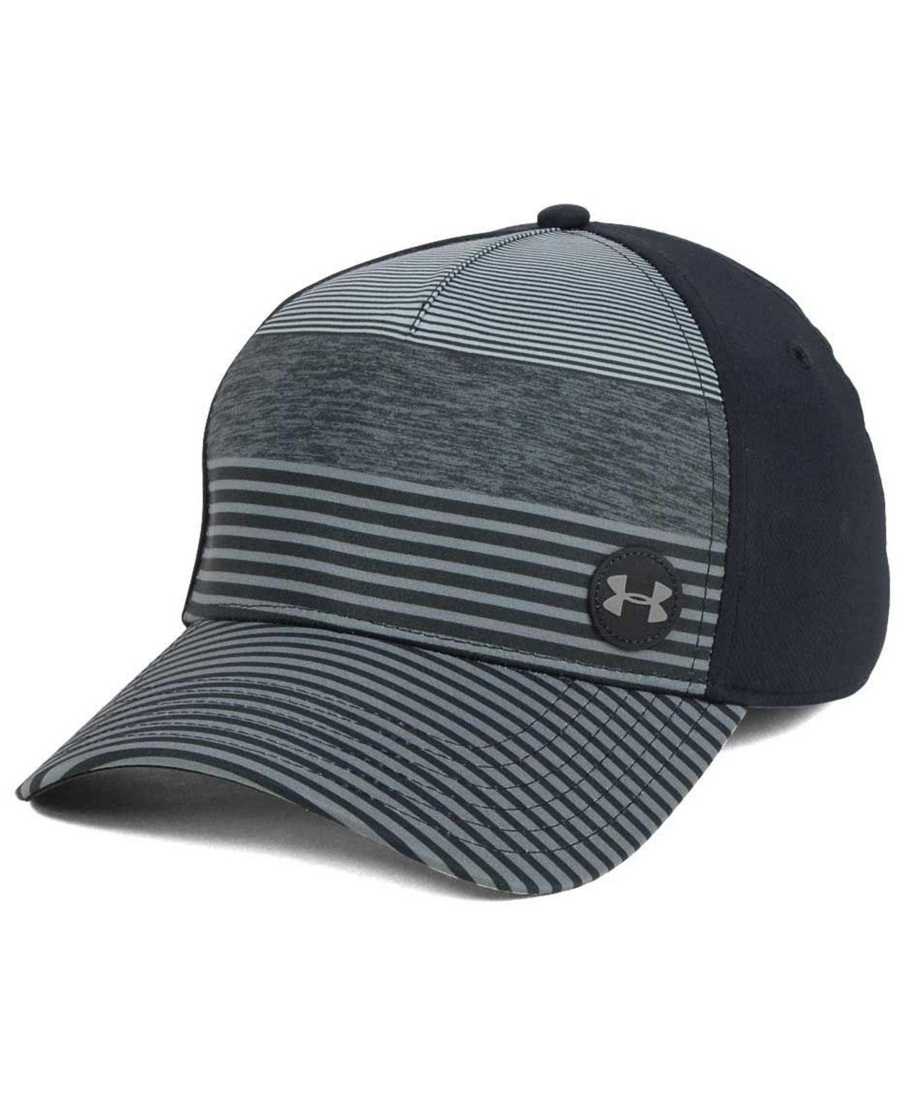 Lyst Under Armour Golf Striped Out Stretch Fitted Cap In Black For Men