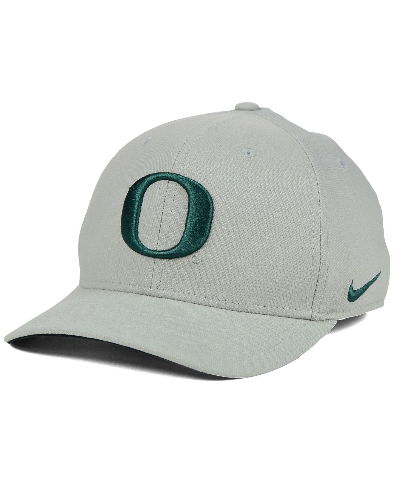 b95b3691 purchase lyst nike oregon ducks classic swoosh cap in gray for men 29cef  a4494