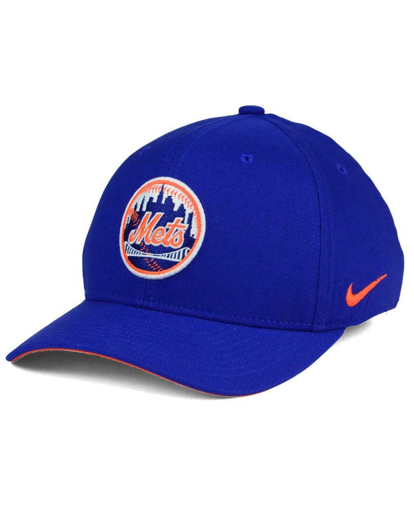 Lyst - Nike New York Mets Ligature Swoosh Flex Cap in Blue for Men 31d55711ec05