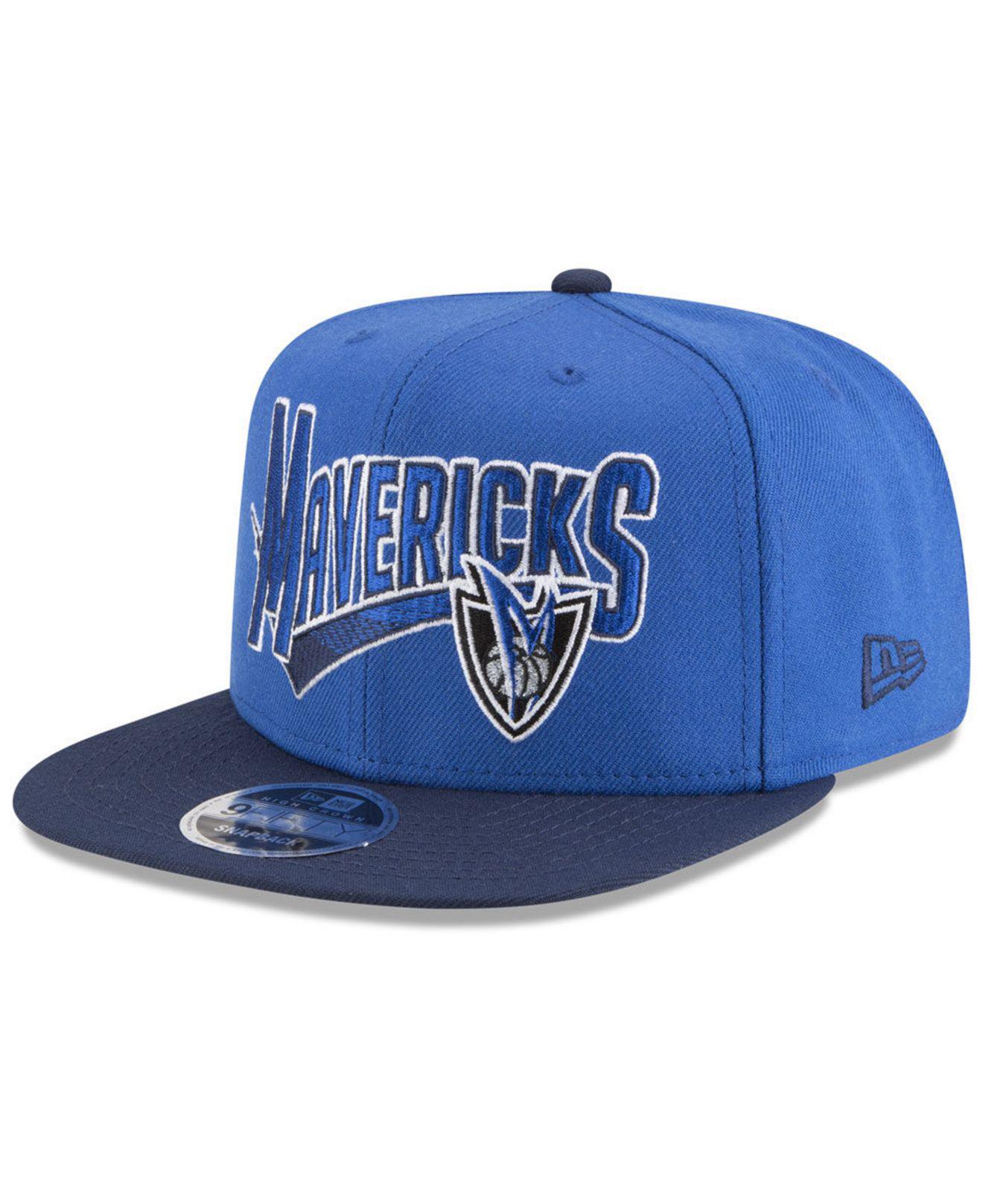 new arrival f8fe0 c770d KTZ Dallas Mavericks Retro Tail 9fifty Snapback Cap in Blue for Men ...