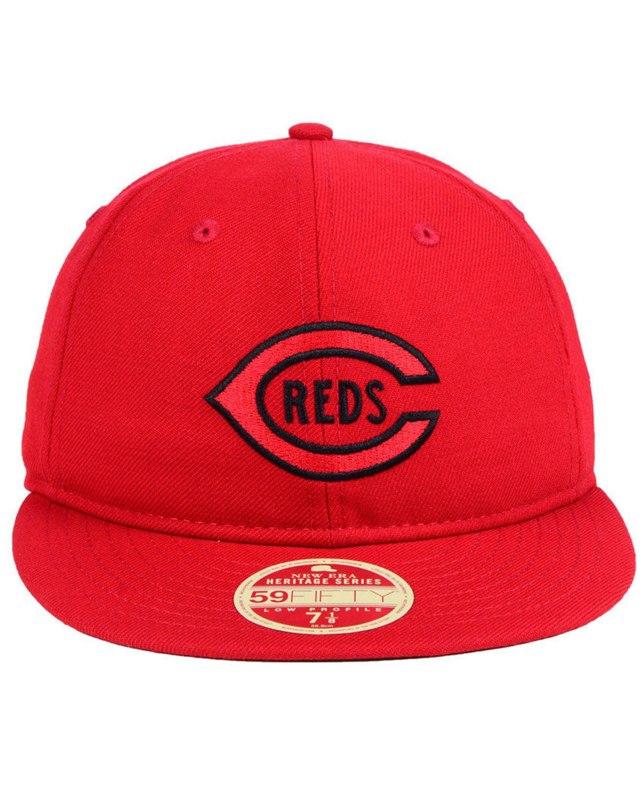 f0962f36e50ac australia hurley dri fit flex fit hat red 231f2 cefca  new zealand lyst ktz cincinnati  reds heritage retro classic 59fifty fitted cap in red for men