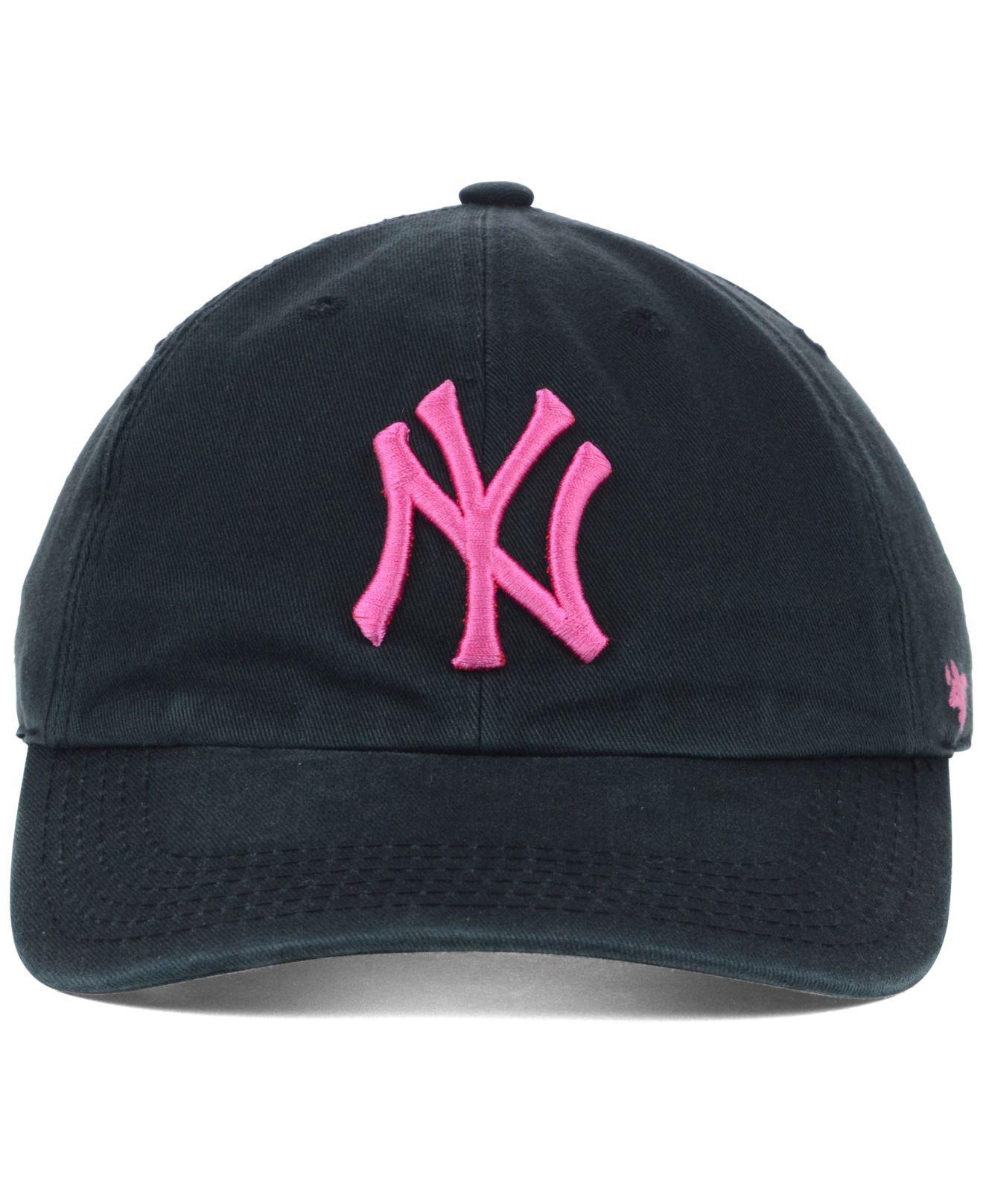 2c49c9df26b53 Lyst - 47 Brand New York Yankees Clean Up Cap in Black for Men