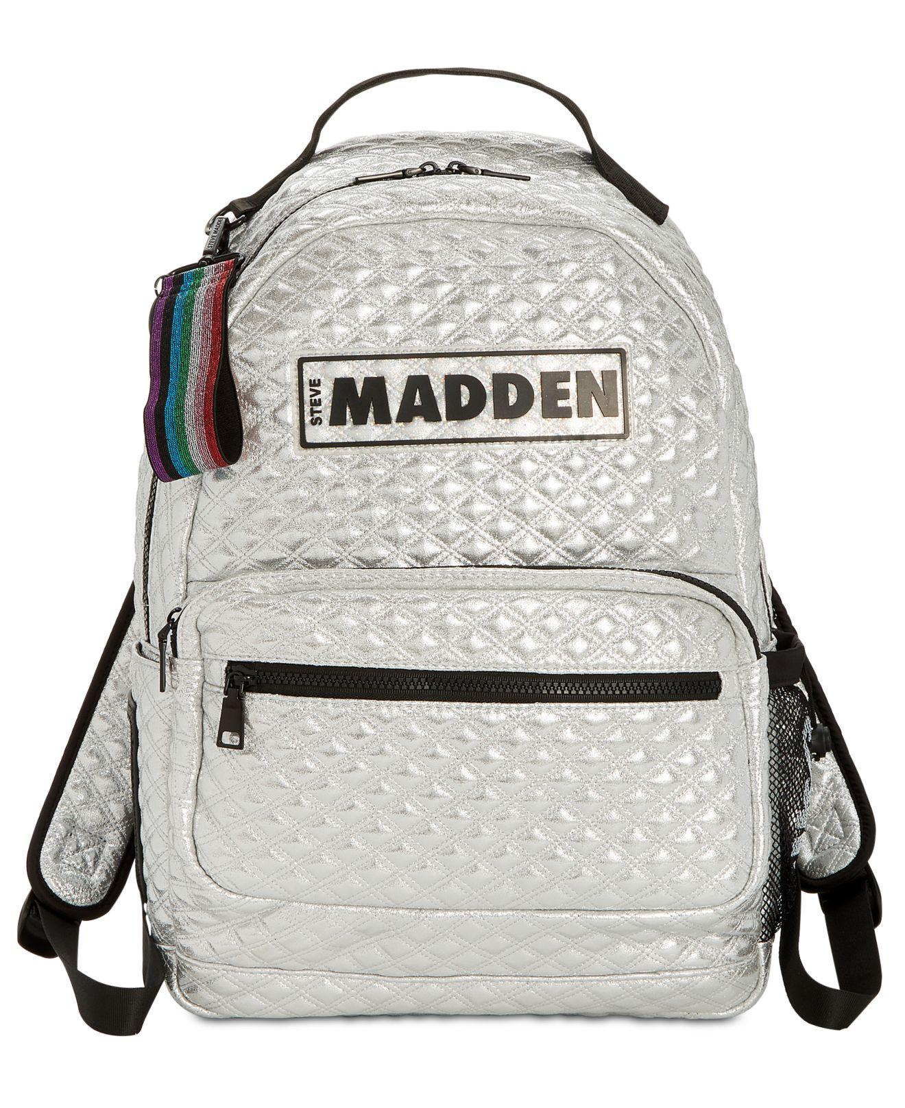 a63f32db9cc5 Lyst - Steve Madden Austin Quilted Backpack in Metallic